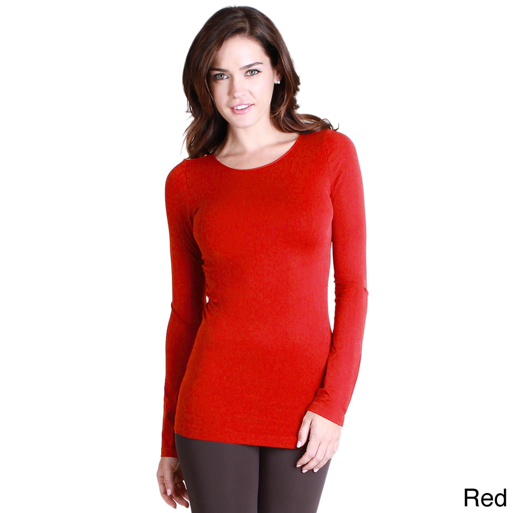 74ab3a54704 Shop Nikibiki Women's Seamless Long-Sleeve Crew Neck Top - Free Shipping On  Orders Over $45 - Overstock - 10195681