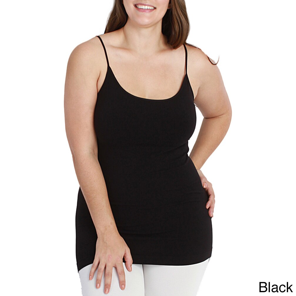 498e709bfe407 Shop Nikibiki Women s Plus-size Seamless Basic Long Camisole Top - Free  Shipping On Orders Over  45 - Overstock - 10195693