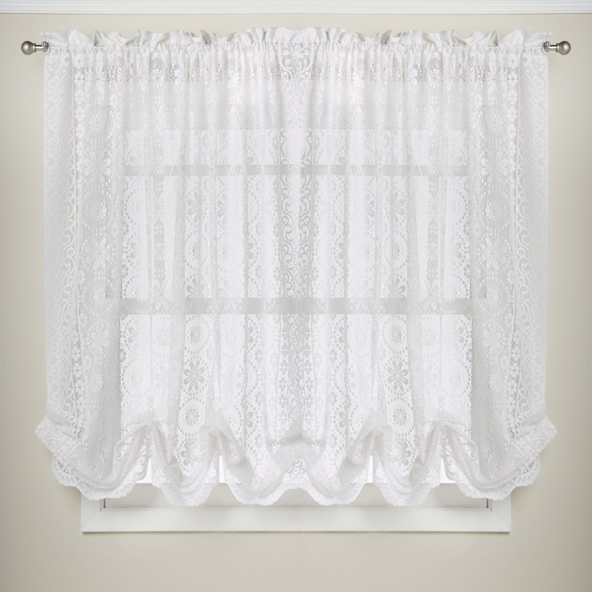 Merveilleux Shop White Lace Luxurious Old World Style Kitchen Curtains Tiers, Shade,  And Valances   On Sale   Free Shipping On Orders Over $45   Overstock.com    ...