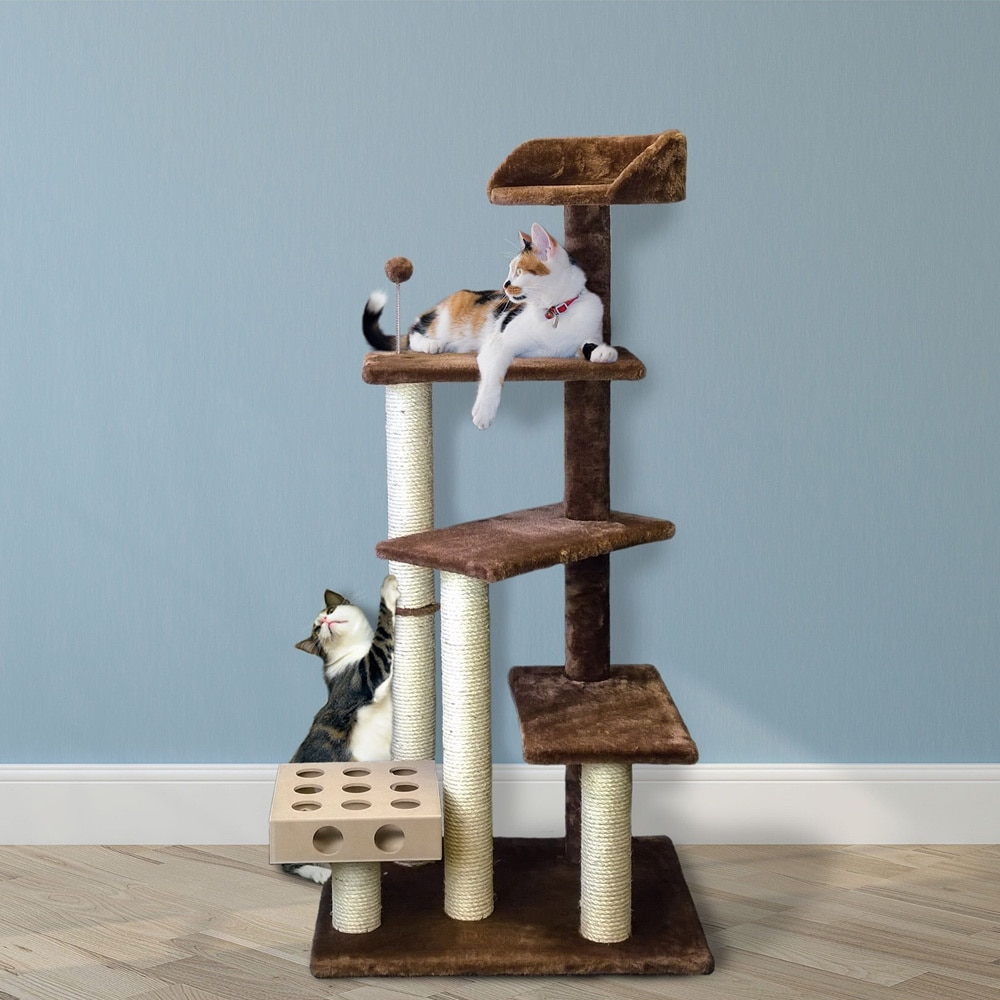 Shop Play Stairs Cat Tree House with Cat-IQ Busy Box - On Sale ...