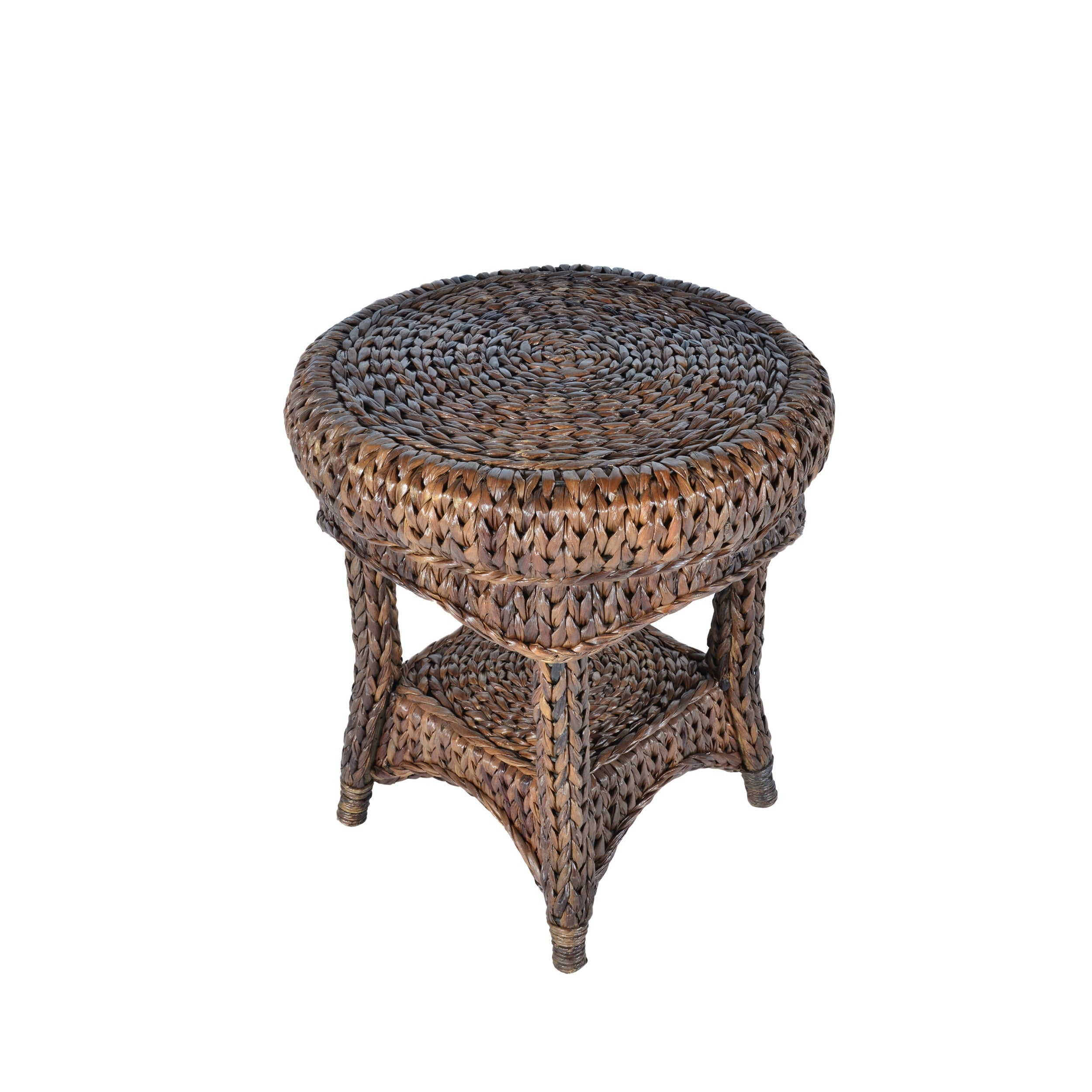 Shop Handmade Somette Indoor/Outdoor 21 Inch Rattan Round Side Table  (Philippines)   Free Shipping Today   Overstock.com   10200290