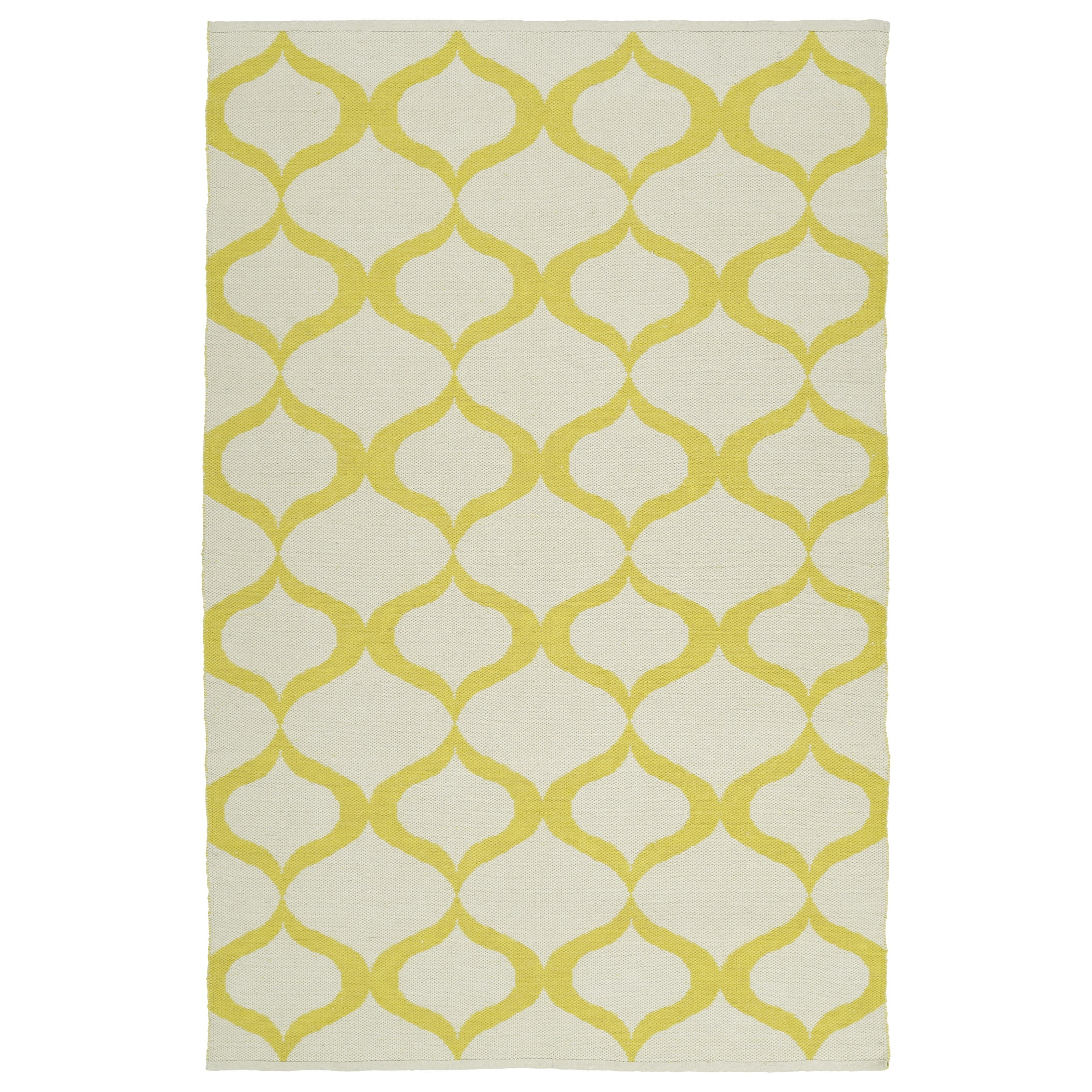 Indoor Outdoor Laguna Ivory And Yellow Geo Flat Weave Rug 8 X 10 Free Shipping Today 10200578