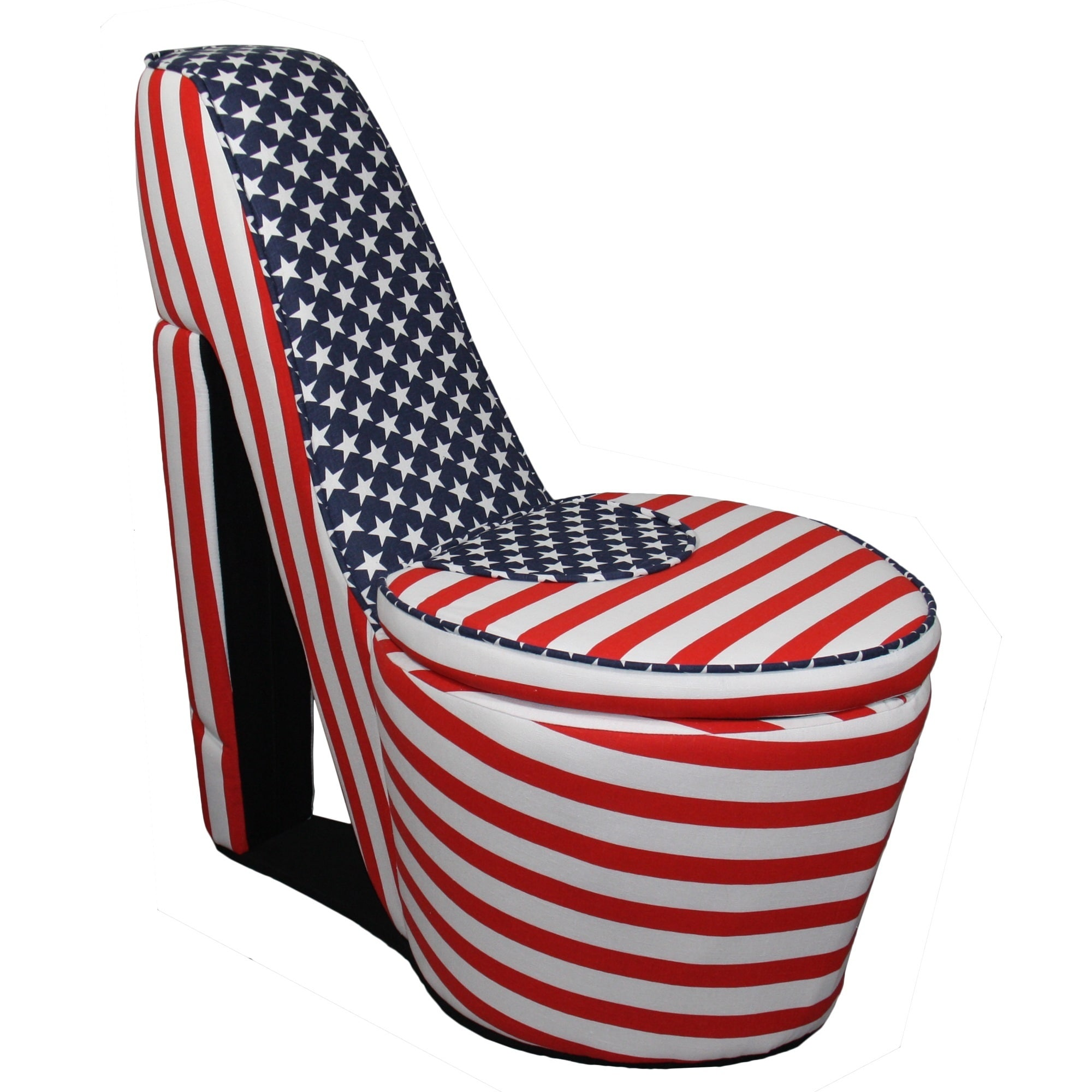Exceptionnel Shop American Flag High Heels Storage Chair   Free Shipping Today    Overstock.com   10201029