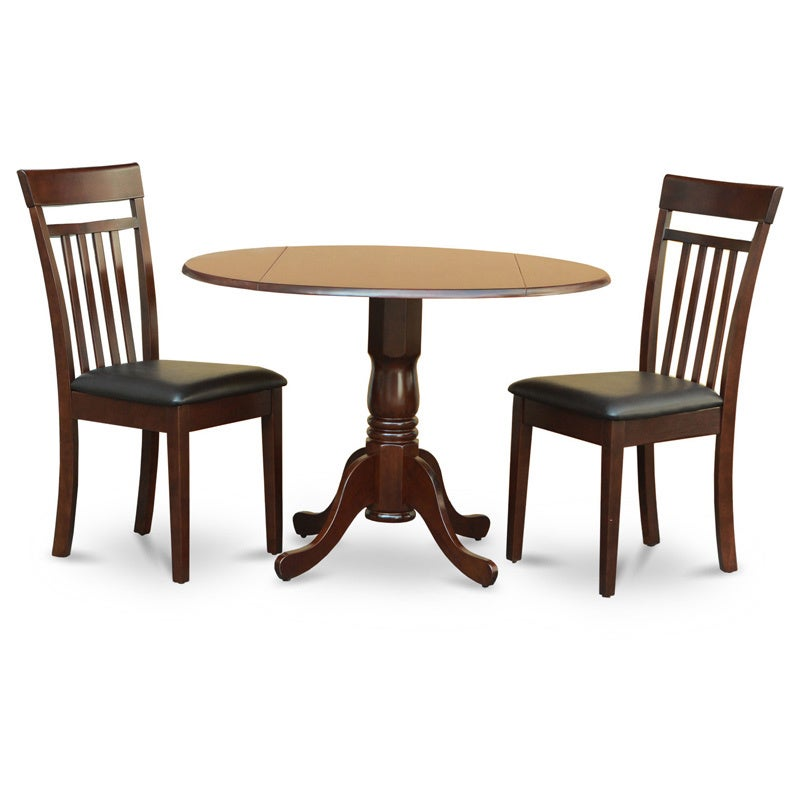 Shop Mahogany Drop Leaf Table And 2 Chairs 3 Piece Dining Set Free