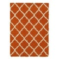 Ottomanson Ottomanson Shag Collection Moroccan Trellis Design Area Rug