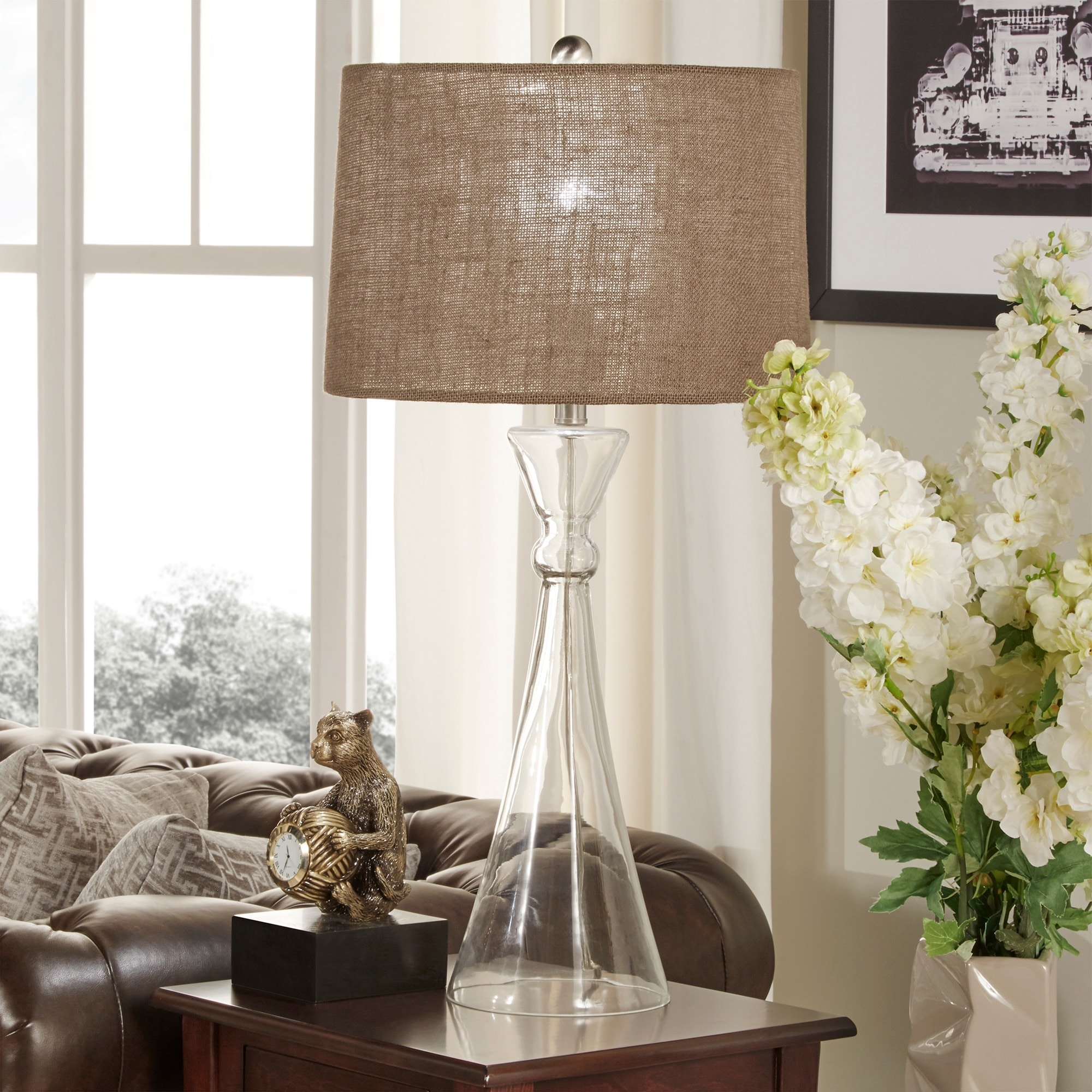 Ingram Clear Glass 1-light Accent Table Lamp iNSPIRE Q Modern - Free  Shipping Today - Overstock.com - 17326644