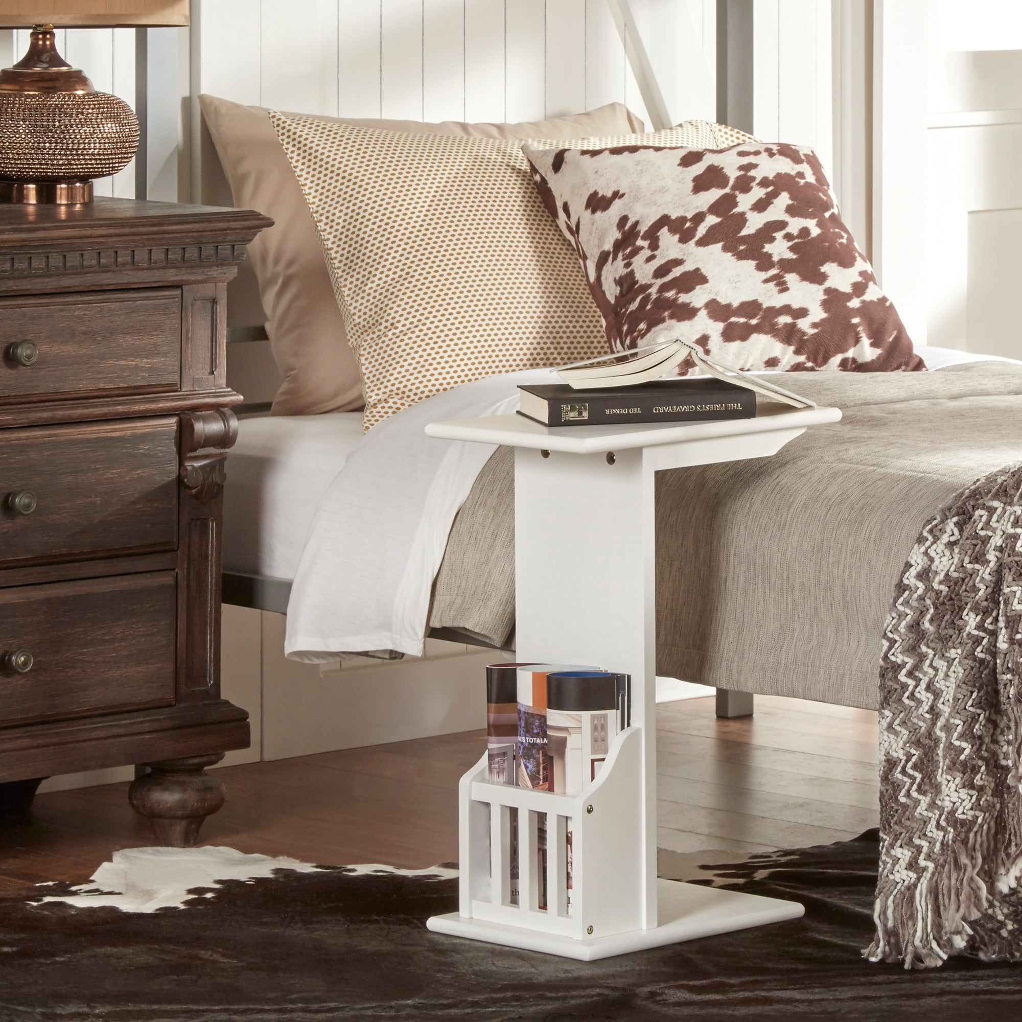 Woodbridge Accent Magazine Rack Chairside Table by iNSPIRE Q Bold - Free  Shipping Today - Overstock.com - 17326649