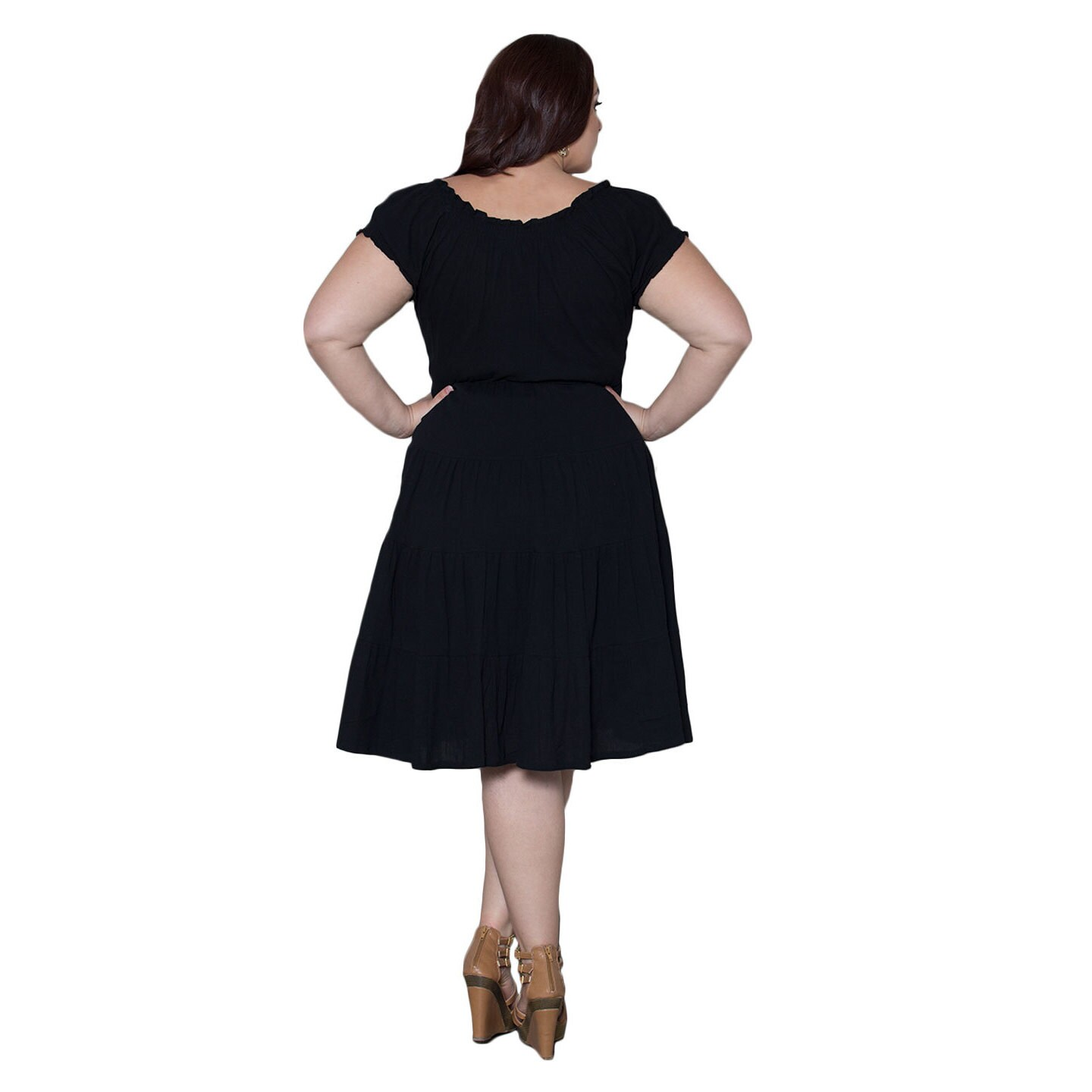 d455a8d0fe Shop Sealed with a Kiss Women s Plus Size  Soleil  Gauze Dress - Free  Shipping Today - Overstock - 10203159