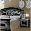 Luca Home Black/ Silver Nightstand