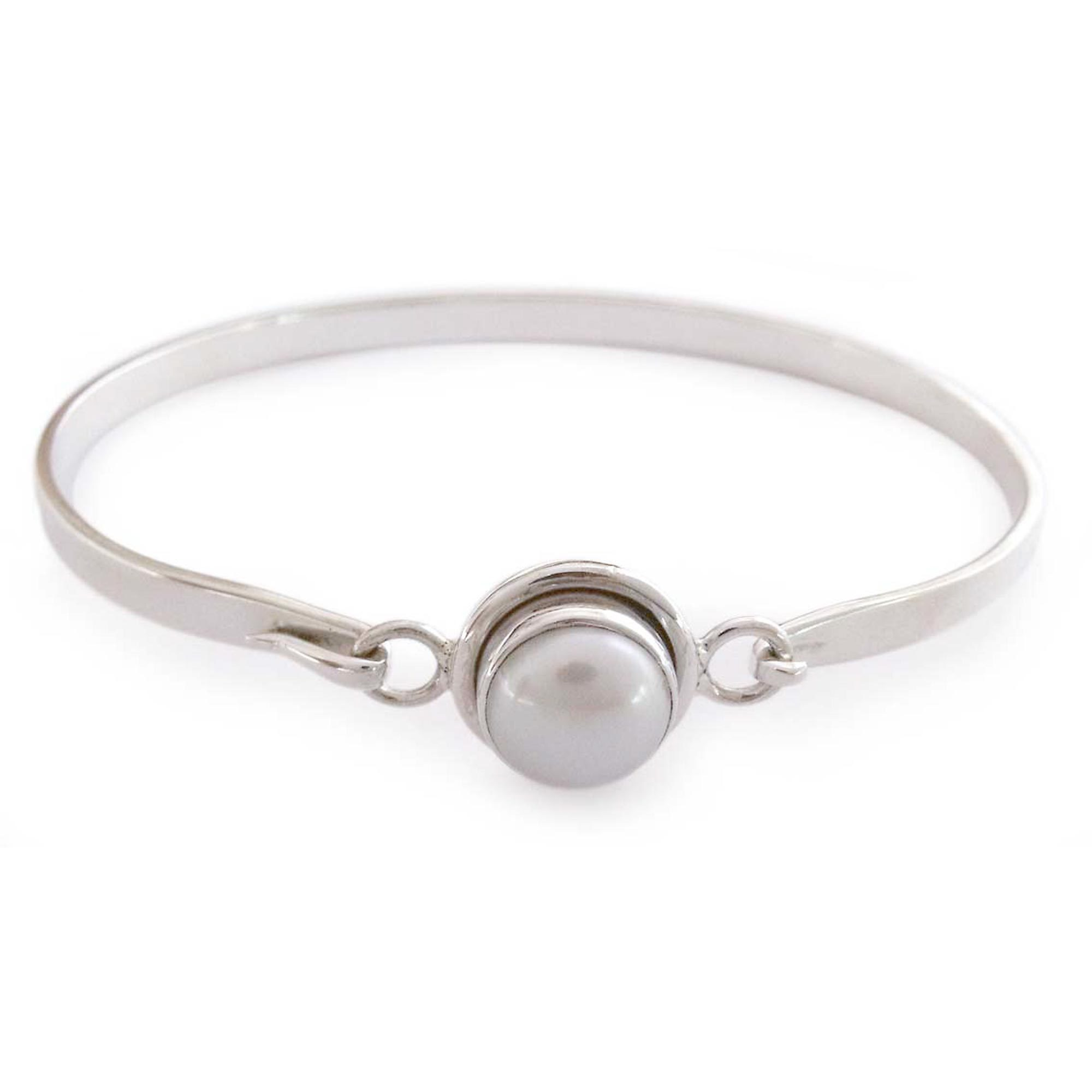 pearlwrappedbangle bangle wrapped bracelet love i pearl monogram jewelry bangles adjustable products
