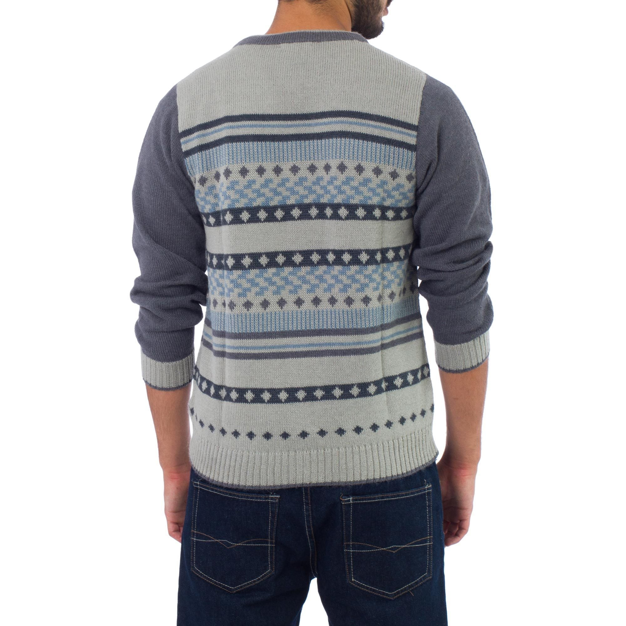567f64855790 Handmade Men s Alpaca  Infinite Traveler  Cardigan (Peru)