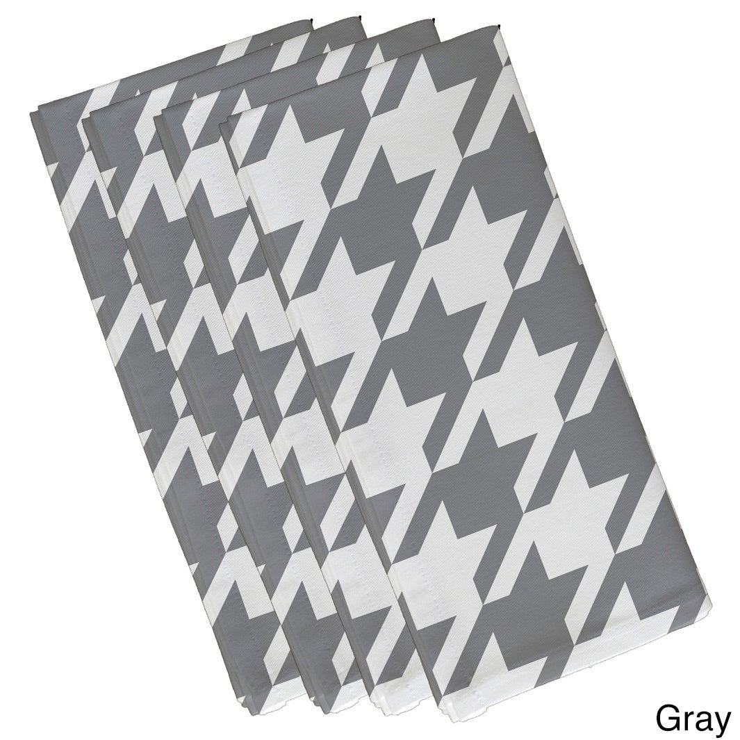 Geometric Houndstooth Print 19-inch Table Top Napkin - Free Shipping ...