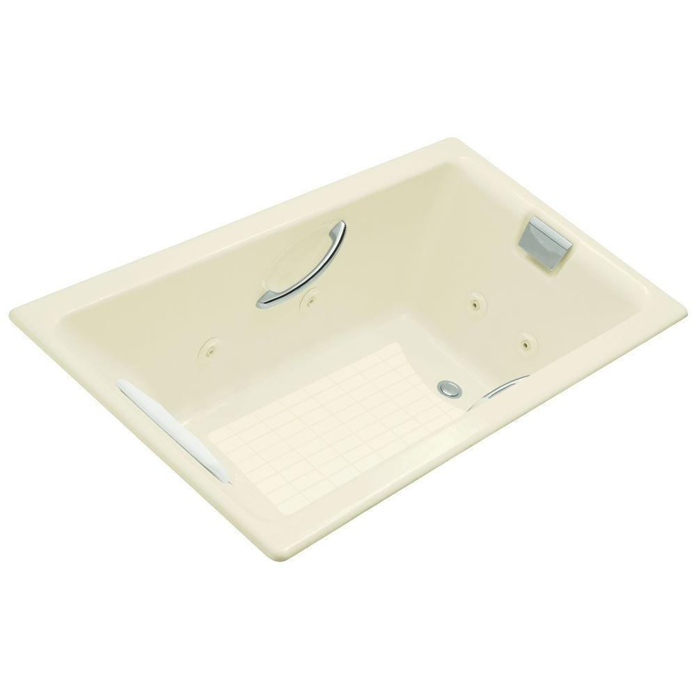 Kohler Tea-for-Two 5.5 Foot Whirlpool Tub in Biscuit - Free Shipping ...