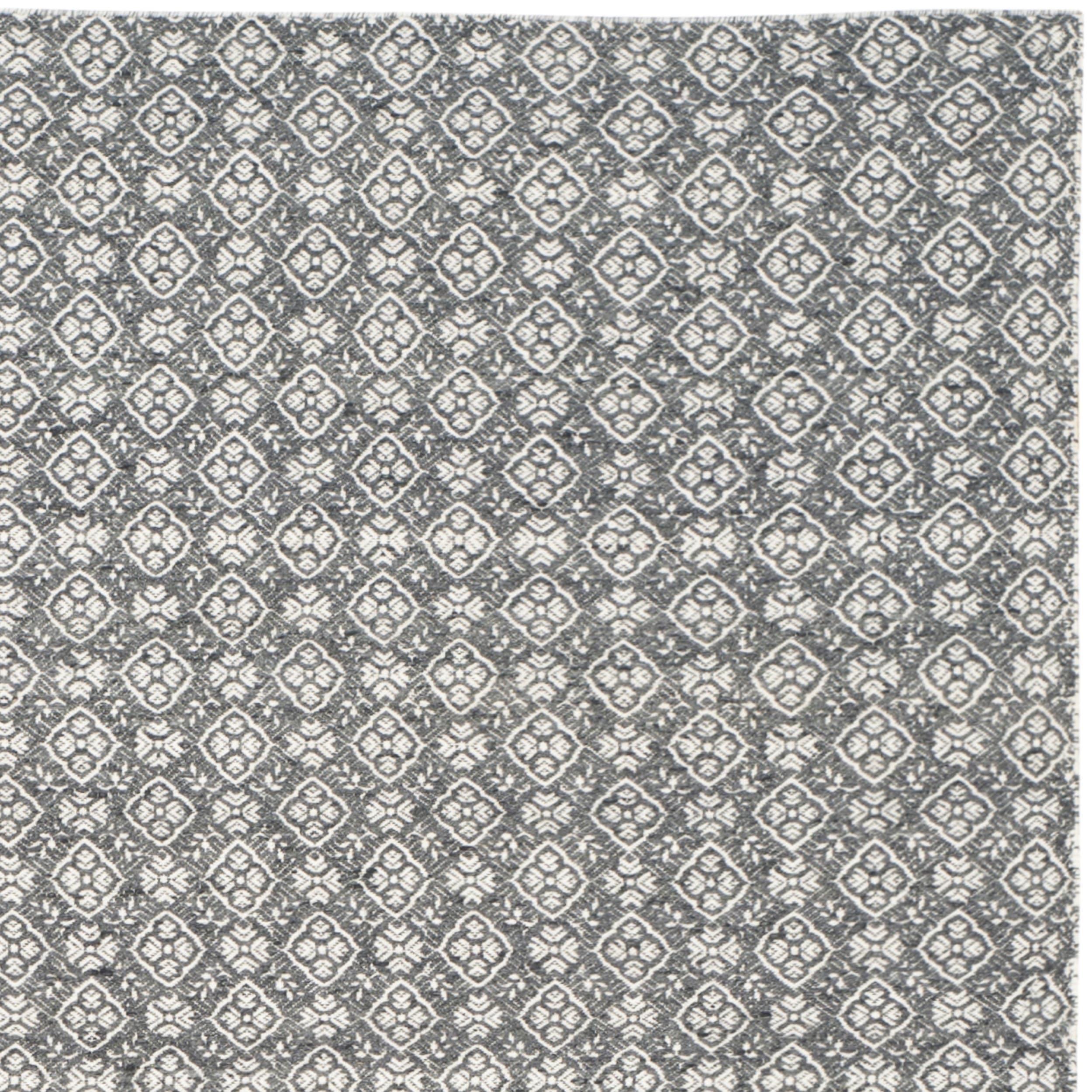 Safavieh Hand Woven Kilim Ivory Charcoal Wool Rug  5 X