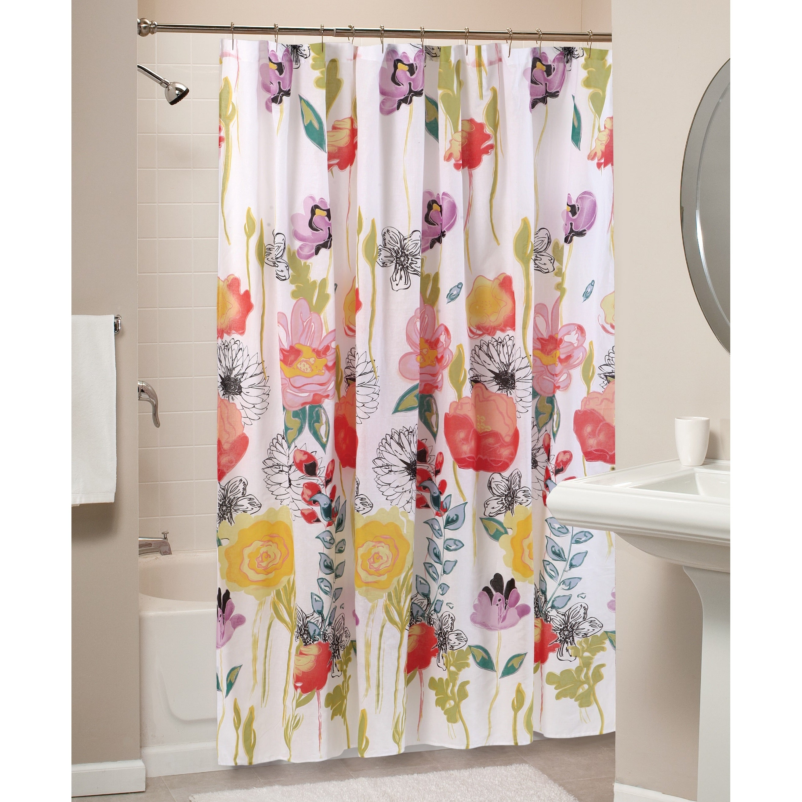 Shop Greenland Home Fashions Watercolor Dream Shower Curtain