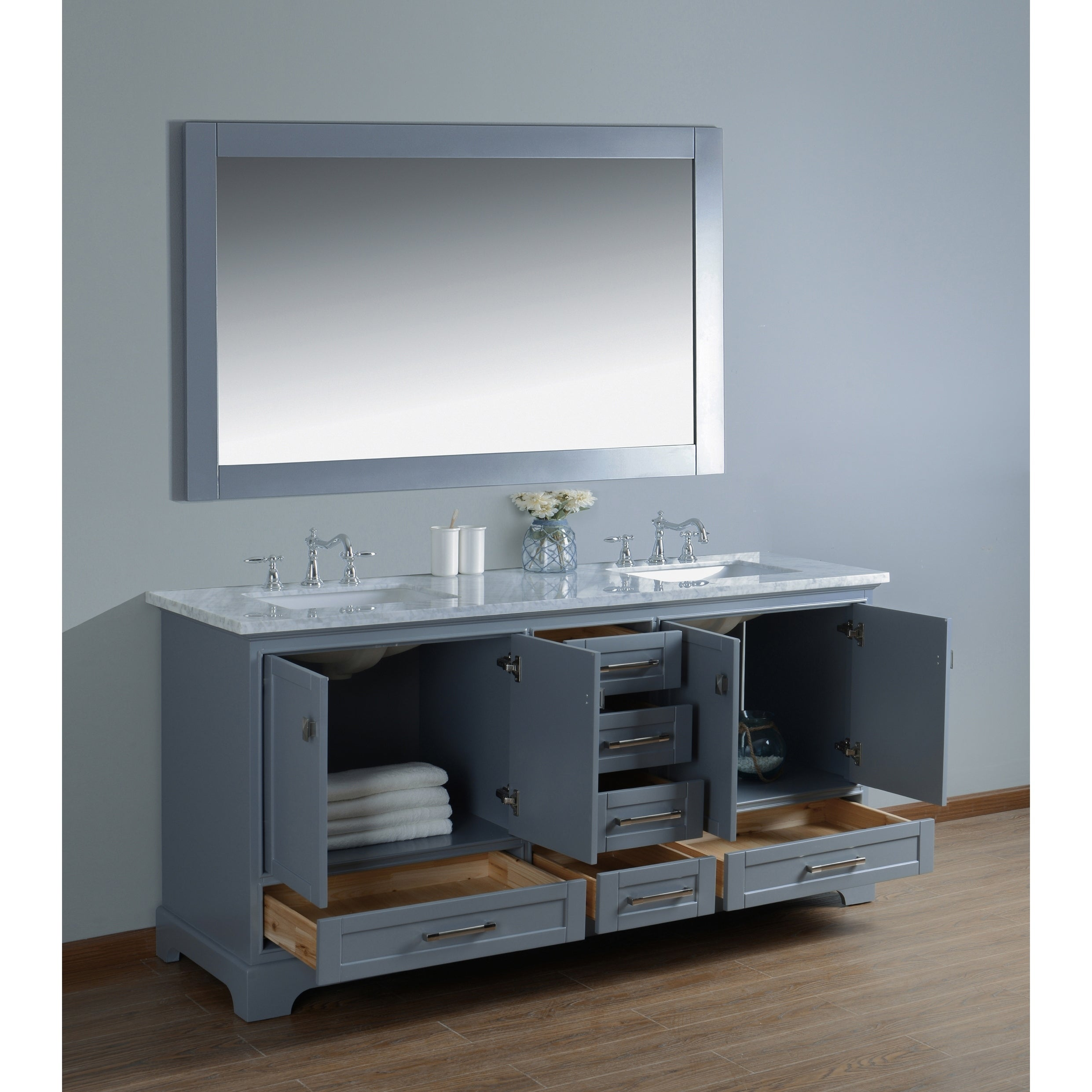 Double Sink Bathroom Vanity With Mirror  Free Shipping Today