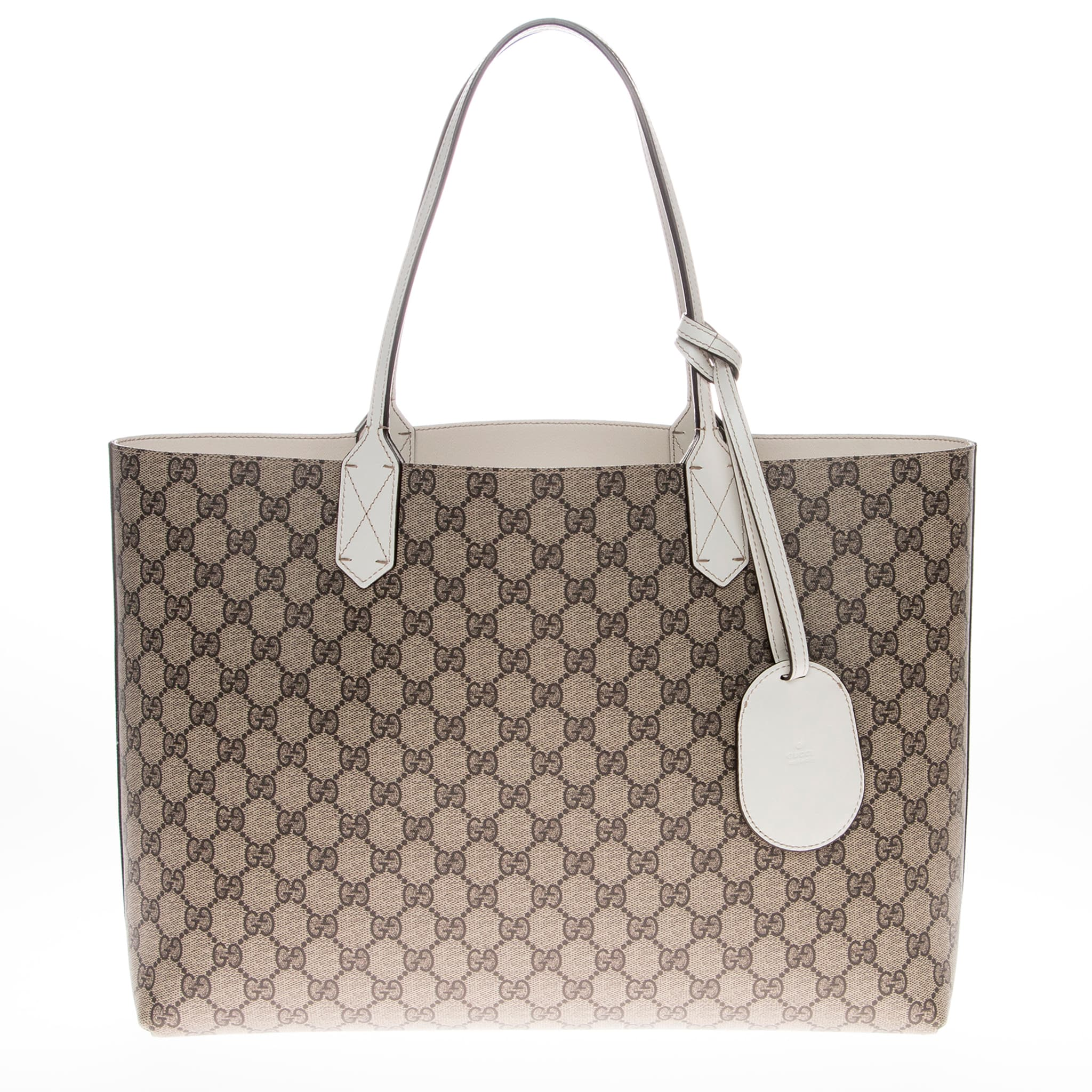 c521f44691c0 Shop Gucci Medium Reversible GG Leather Tote - Free Shipping Today -  Overstock.com - 10217998