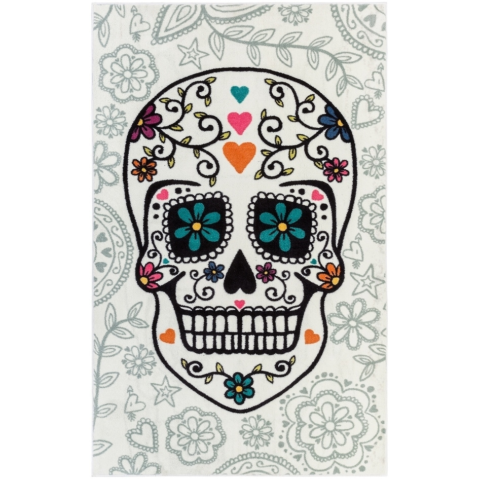 Shop Mohawk Home Aurora Sugar Skull Rug (5\' x 8\') - 5\' x 8\' - On ...