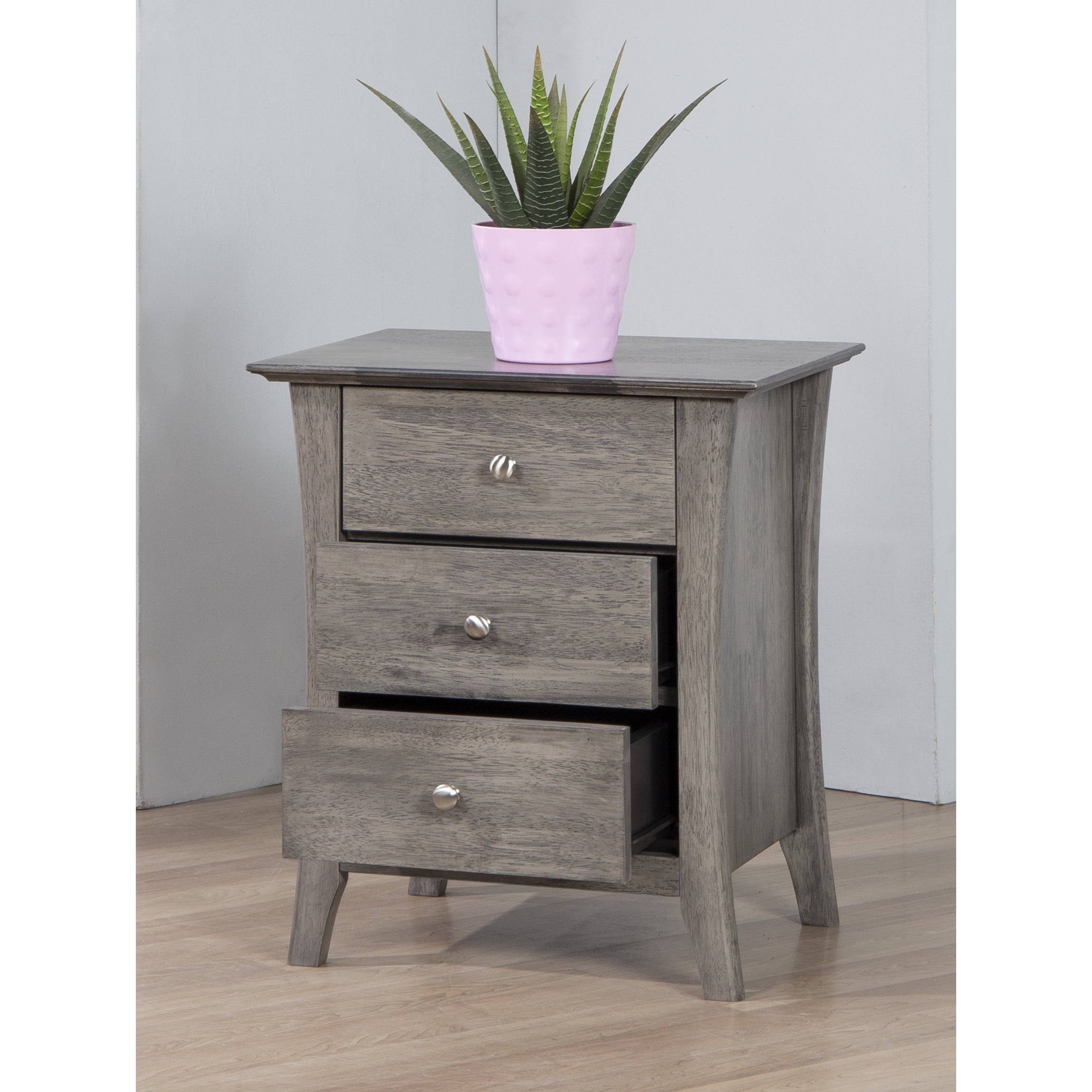 Copper Grove Vermont Stone Dark Burnt Grey 3 Drawer Bedside Table Free Shipping Today 80008411