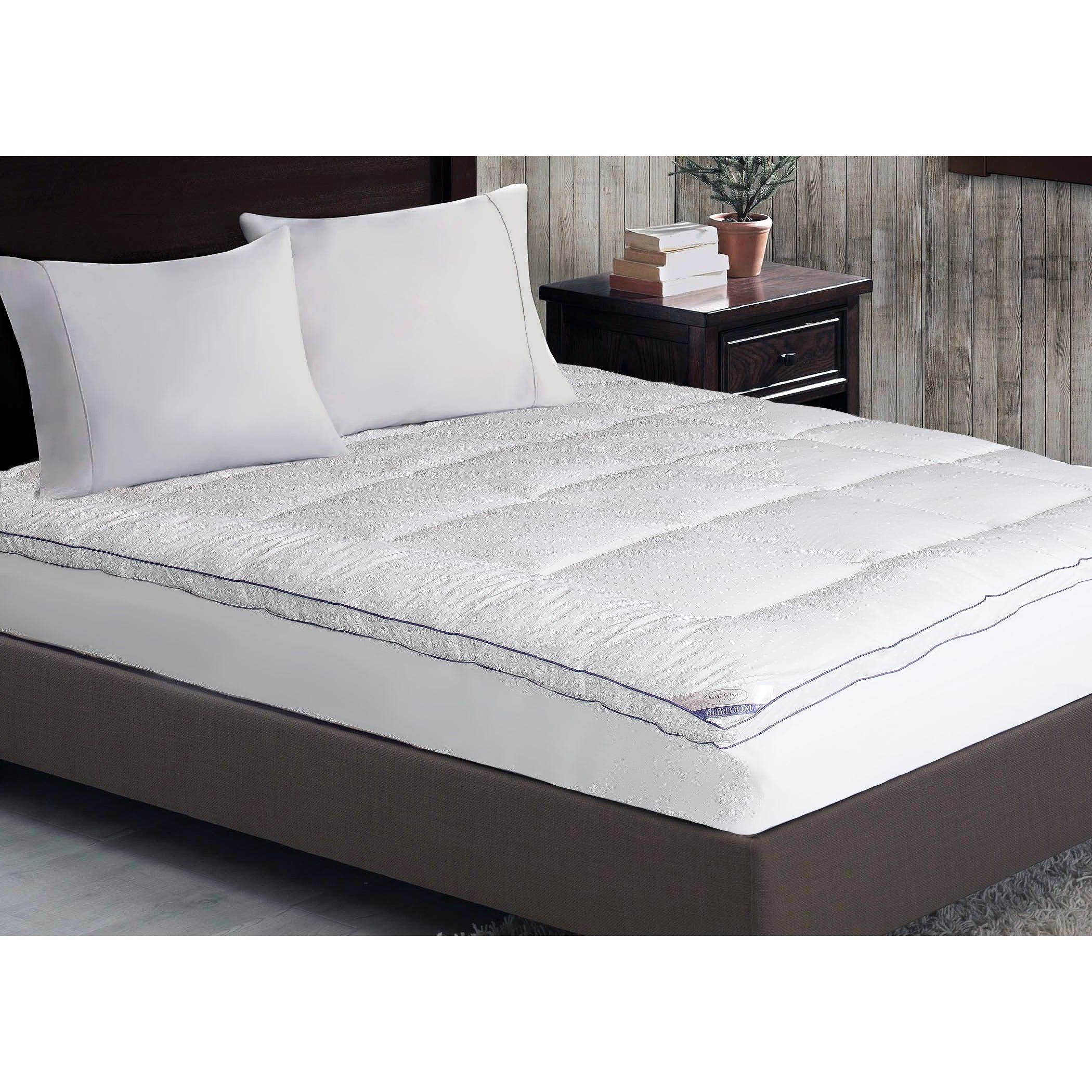 kathy ireland home 1000 thread count cotton rich mattress pad