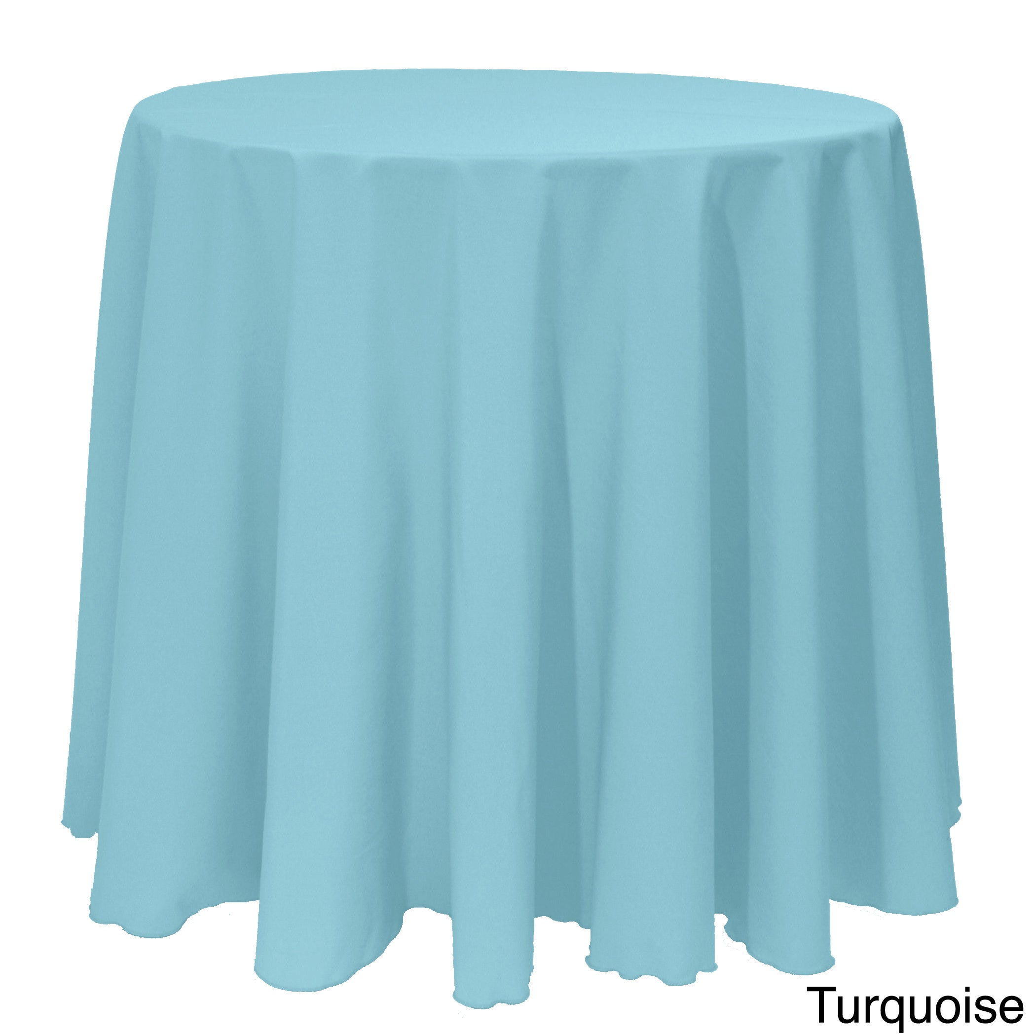 Shop Solid Color 108 Inches Round Colorful Tablecloth   108   Free Shipping  On Orders Over $45   Overstock.com   10222594