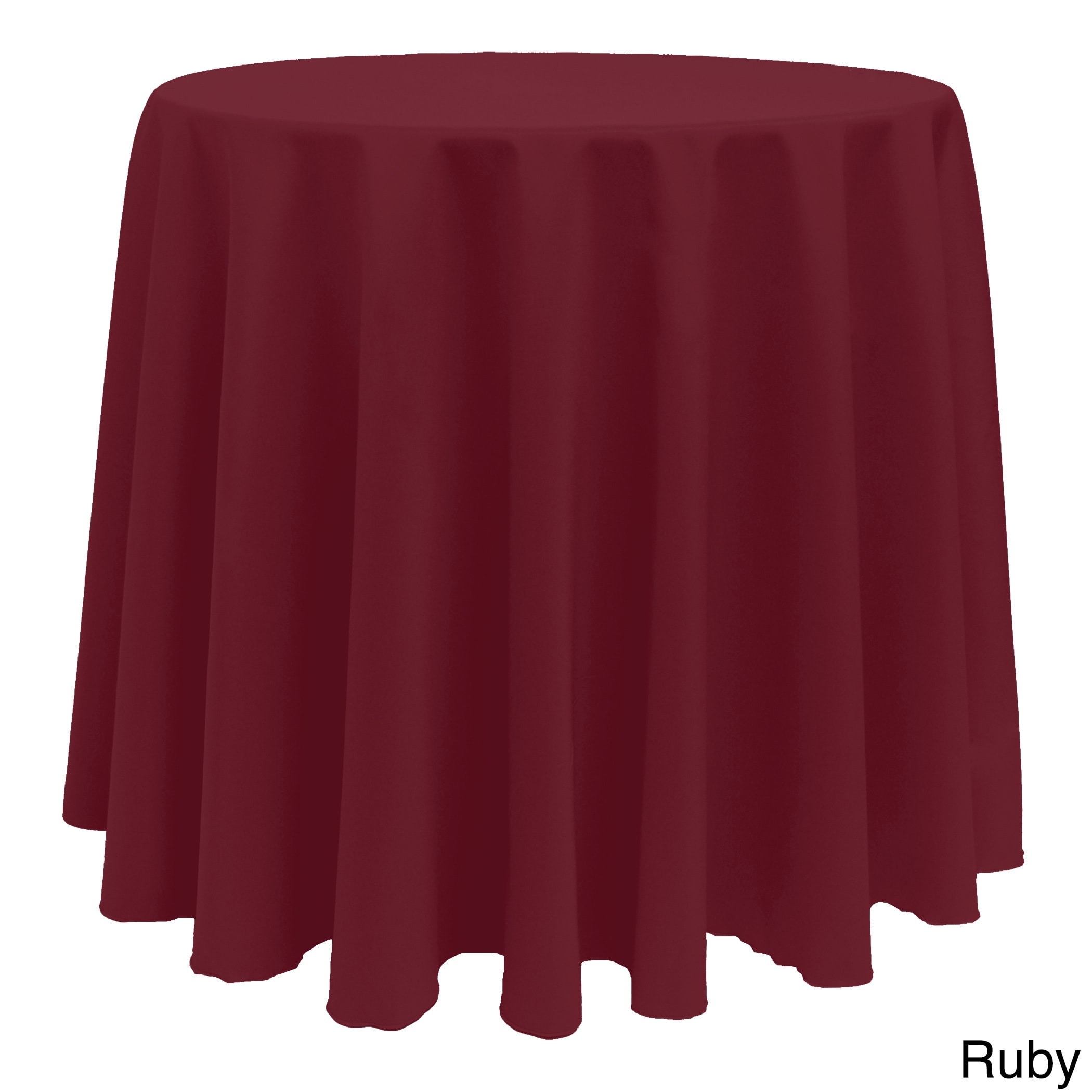 Vibrant Solid Color 90 Inch Round Tablecloth  Free Shipping On