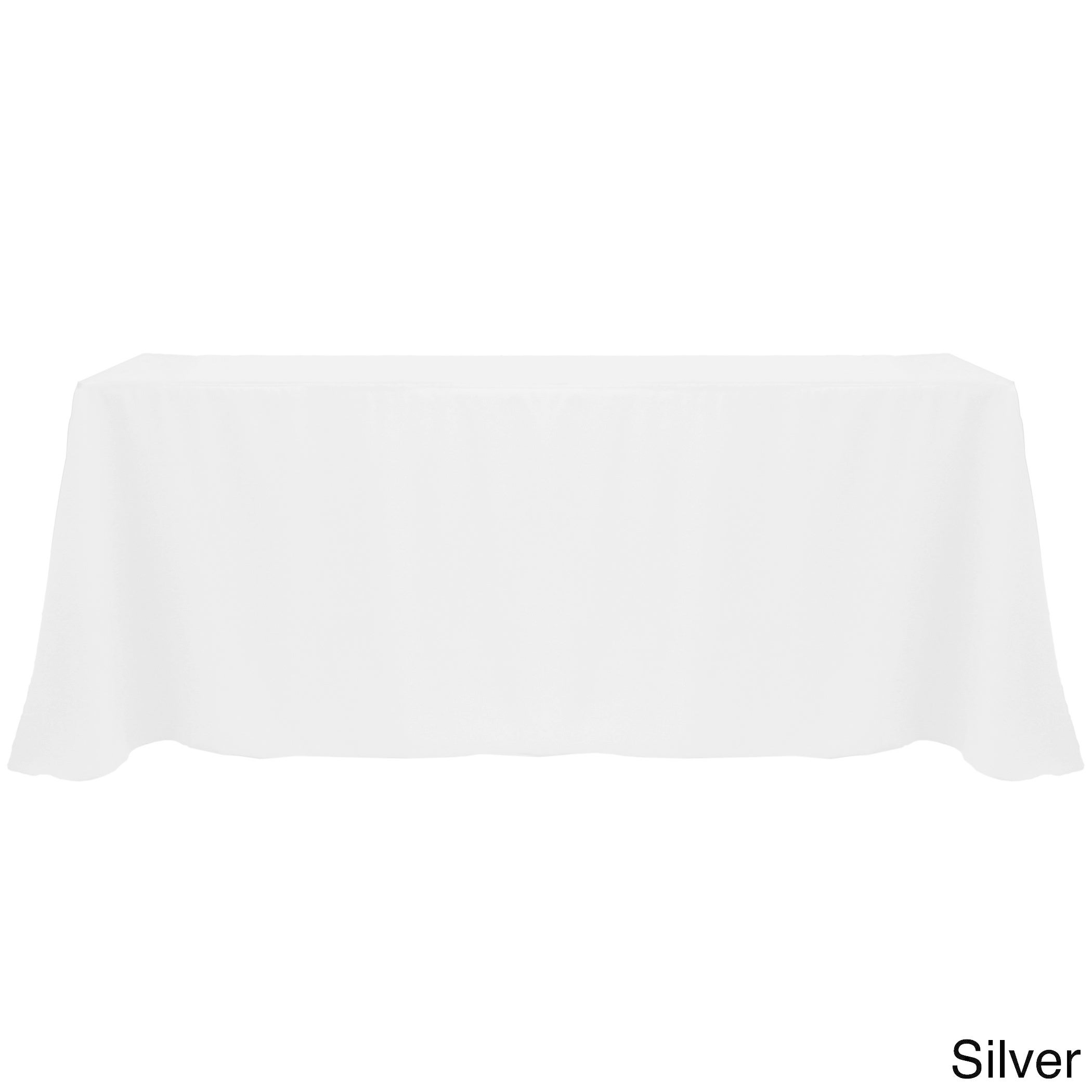 Solid Color 90x132 Inch Vibrant Oval Tablecloth   Free Shipping On Orders  Over $45   Overstock   17343847