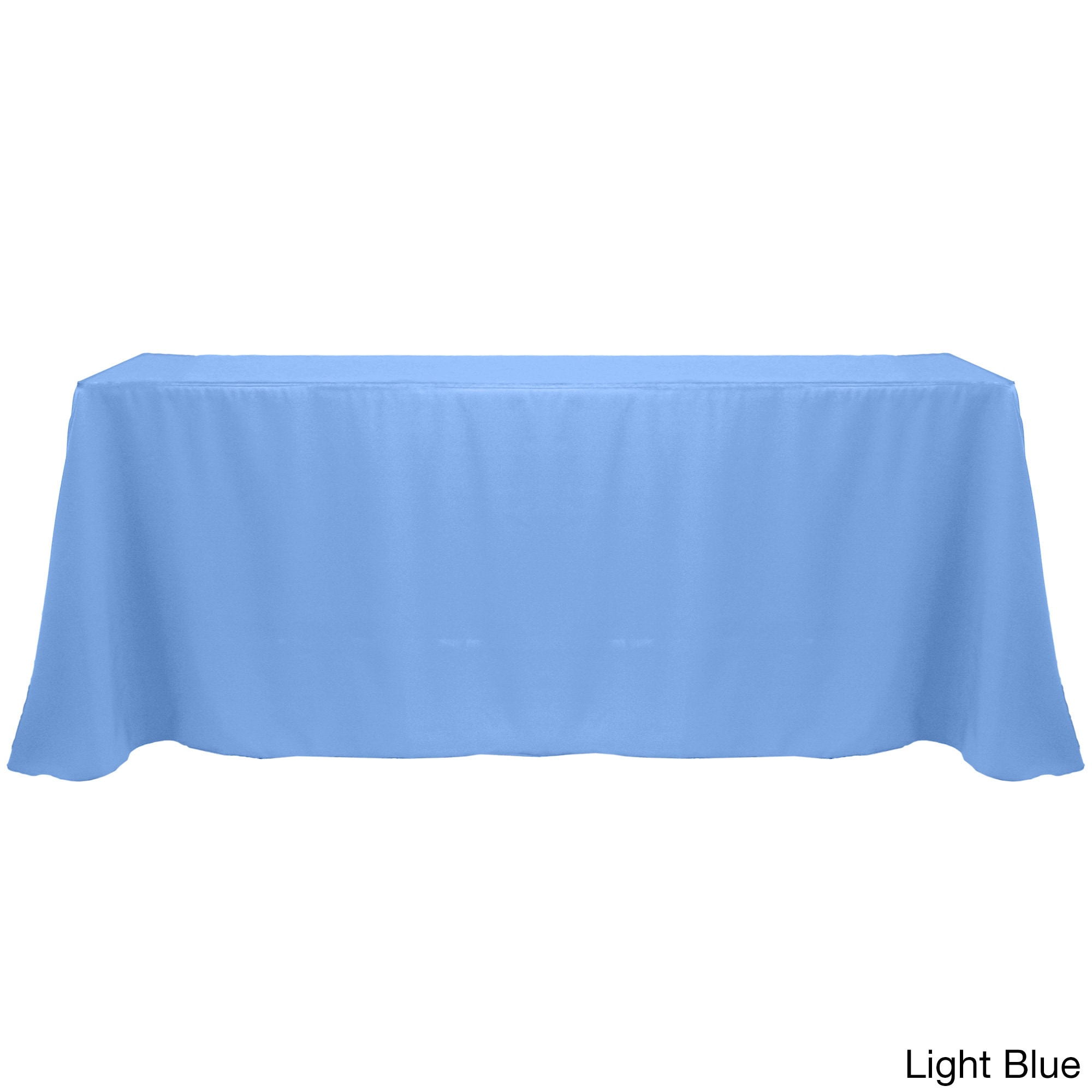 Shop Solid Color 90x132 Inch Colorful Oval Tablecloth   Free Shipping On  Orders Over $45   Overstock.com   10222606