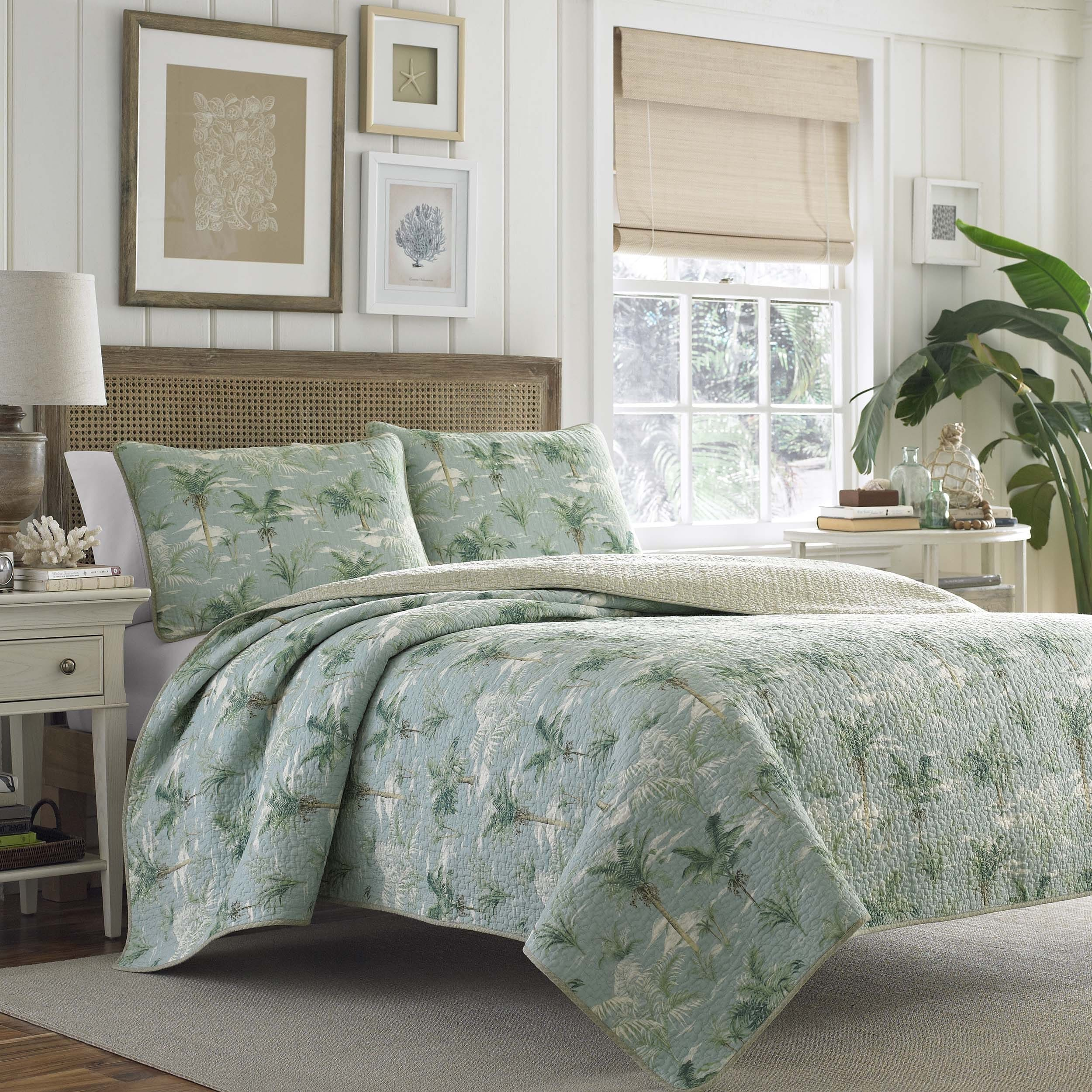 bedding quilt light tommy v set p cream paradise tropical bahama comforter birds of king
