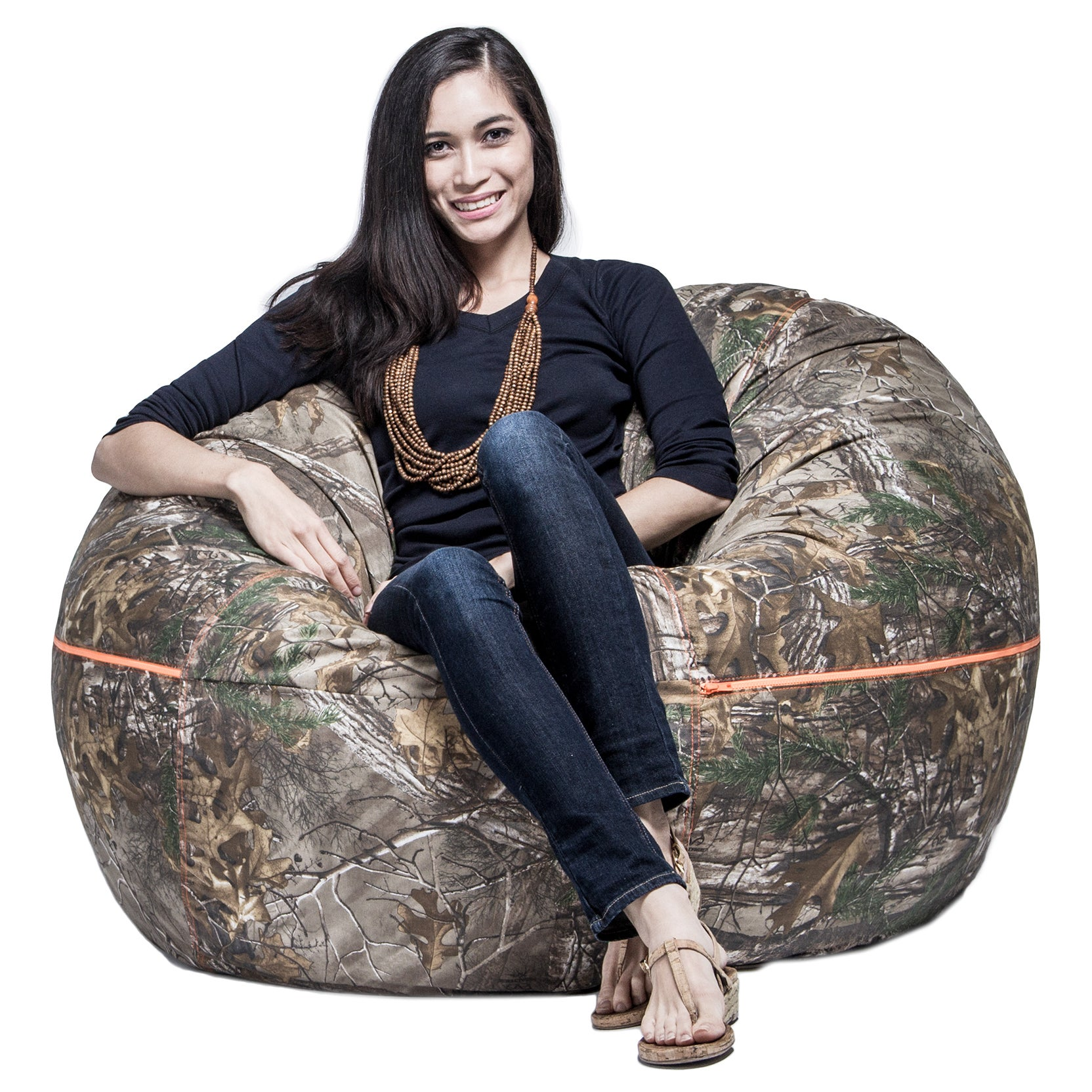Camo Bean Bag Chair   Free Shipping Today   Overstock.com   10223184