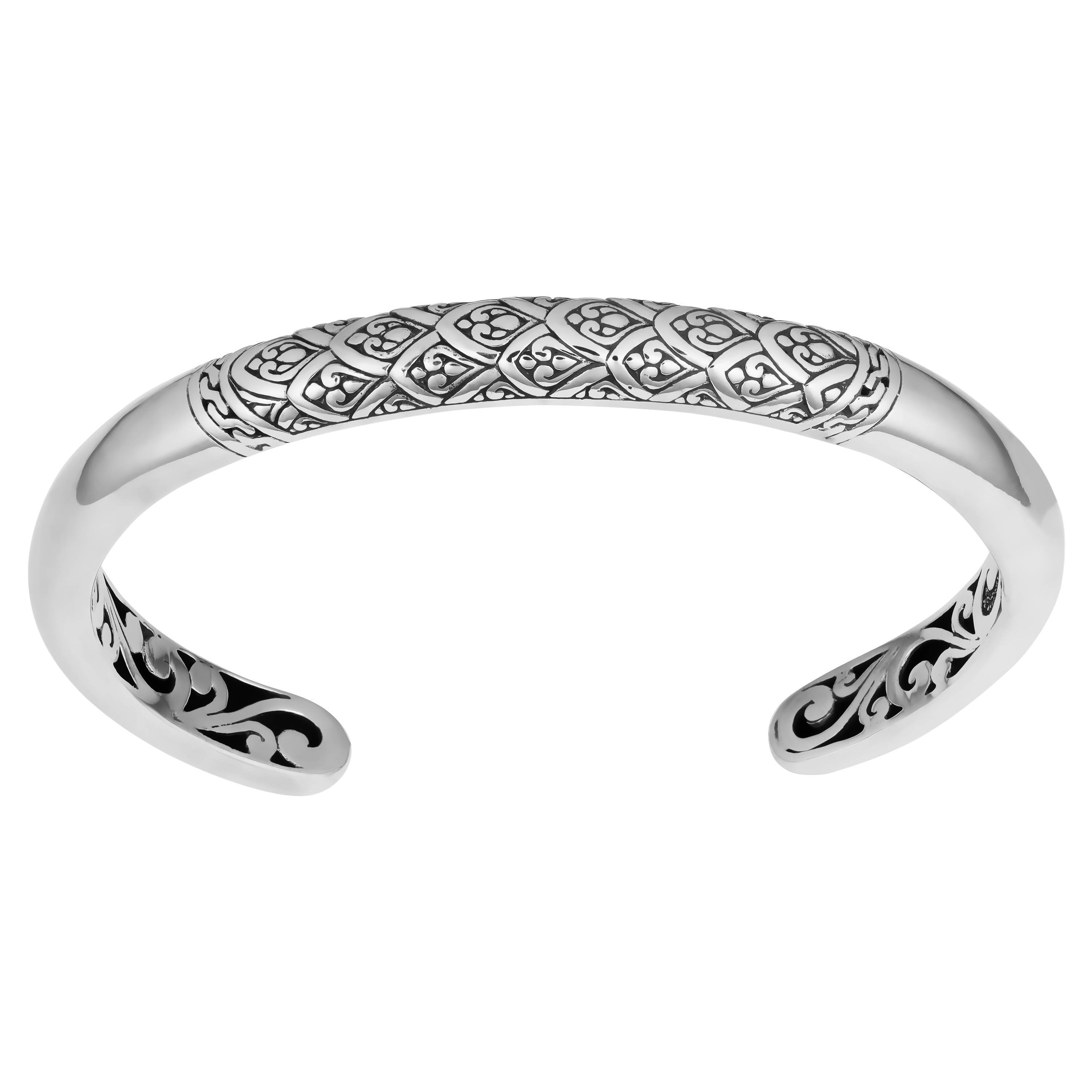 6d543ef14 Shop Handmade Sterling Silver 'Rain Forrest' Cawi Cuff Bracelet (Indonesia)  - On Sale - Free Shipping Today - Overstock - 10223744