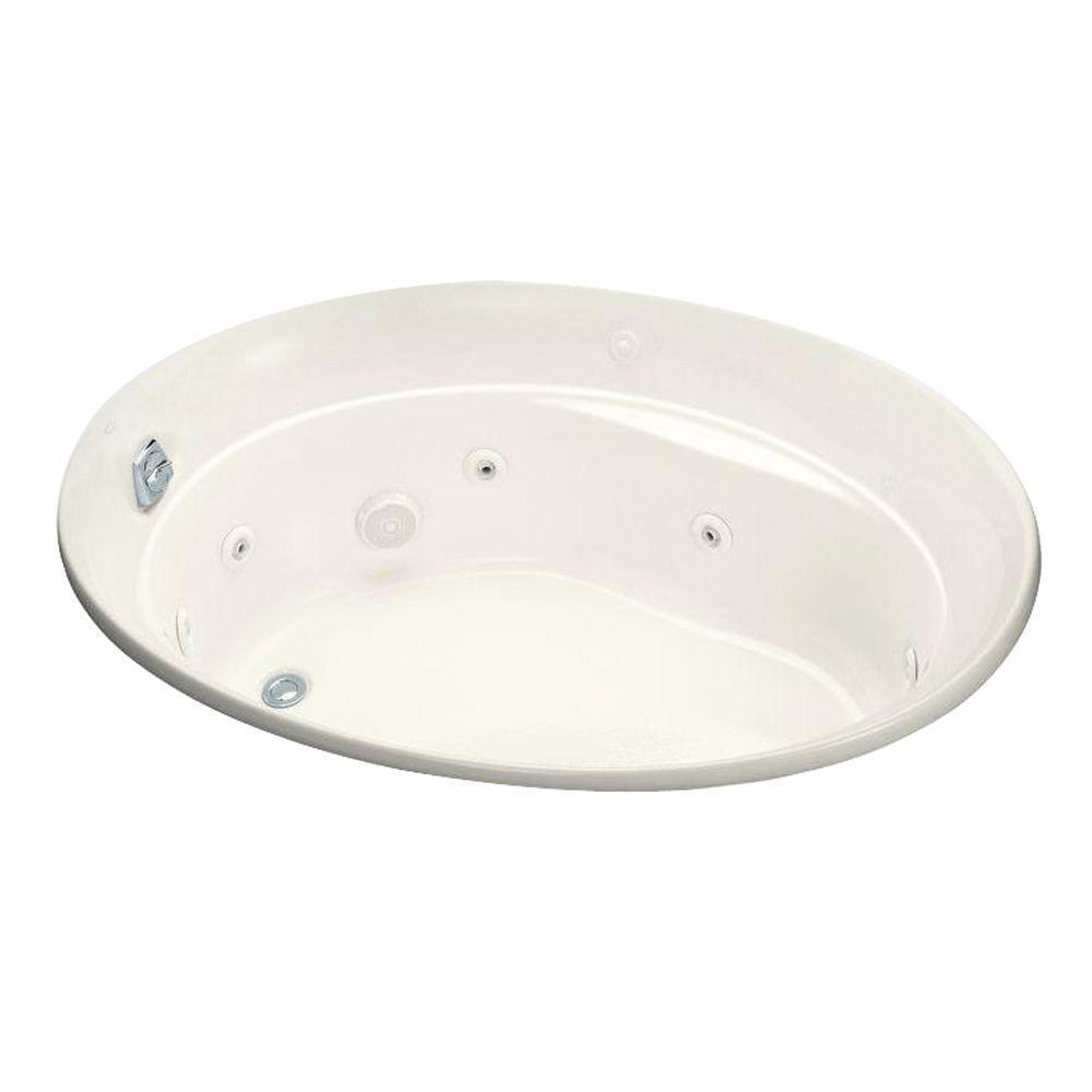 Shop Kohler Serif 5 Foot Whirlpool Tub with Heater and Reversible ...