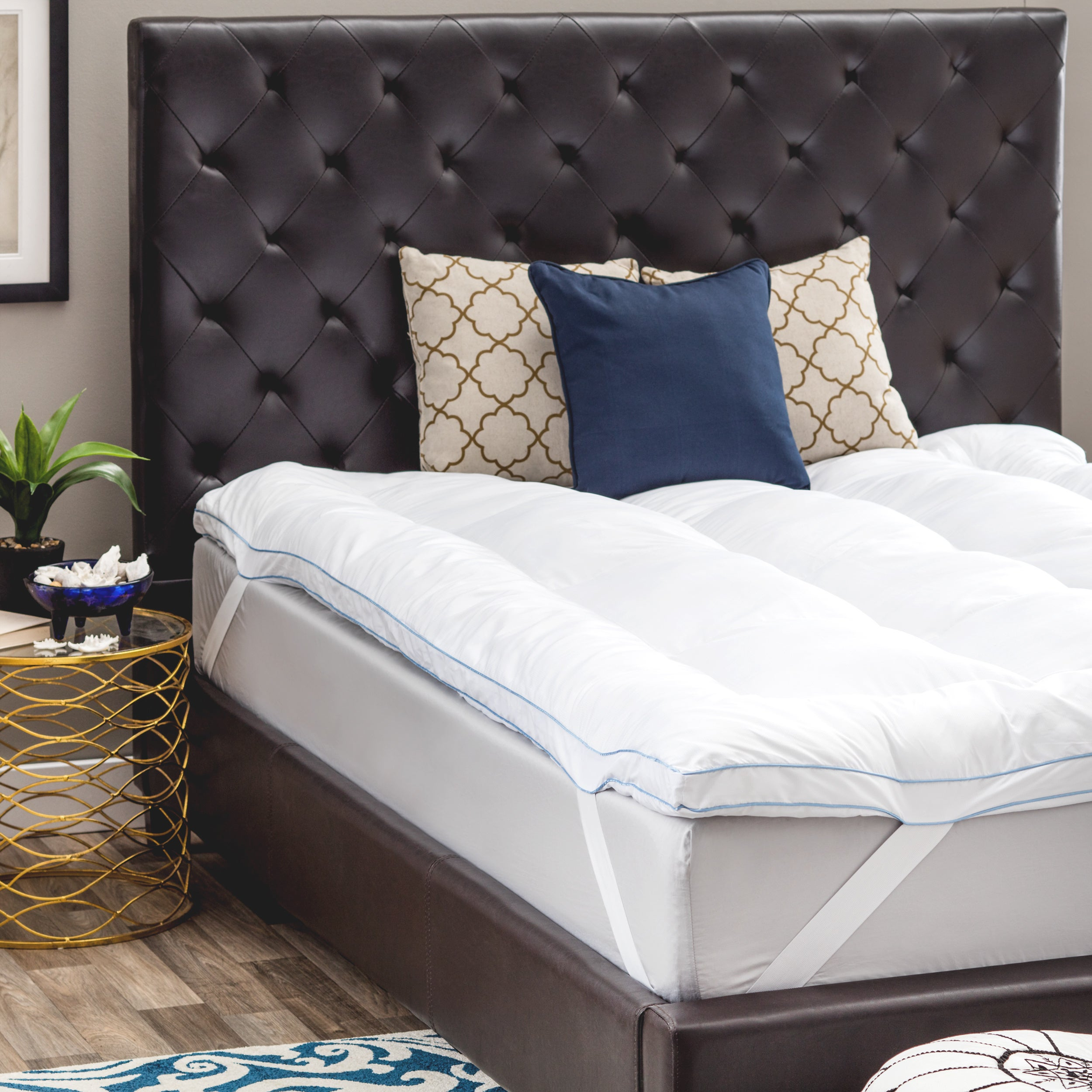 topper fiber cotton foam and ip memory inch walmart swisslux deluxe com blend mattress