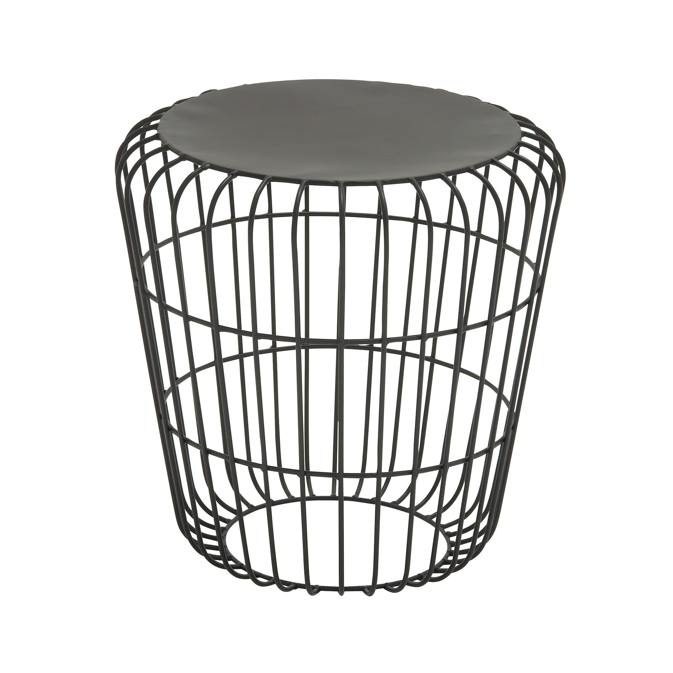 Shop Contemporary 18 Inch Tapered Iron Accent Table by Studio 350 ...
