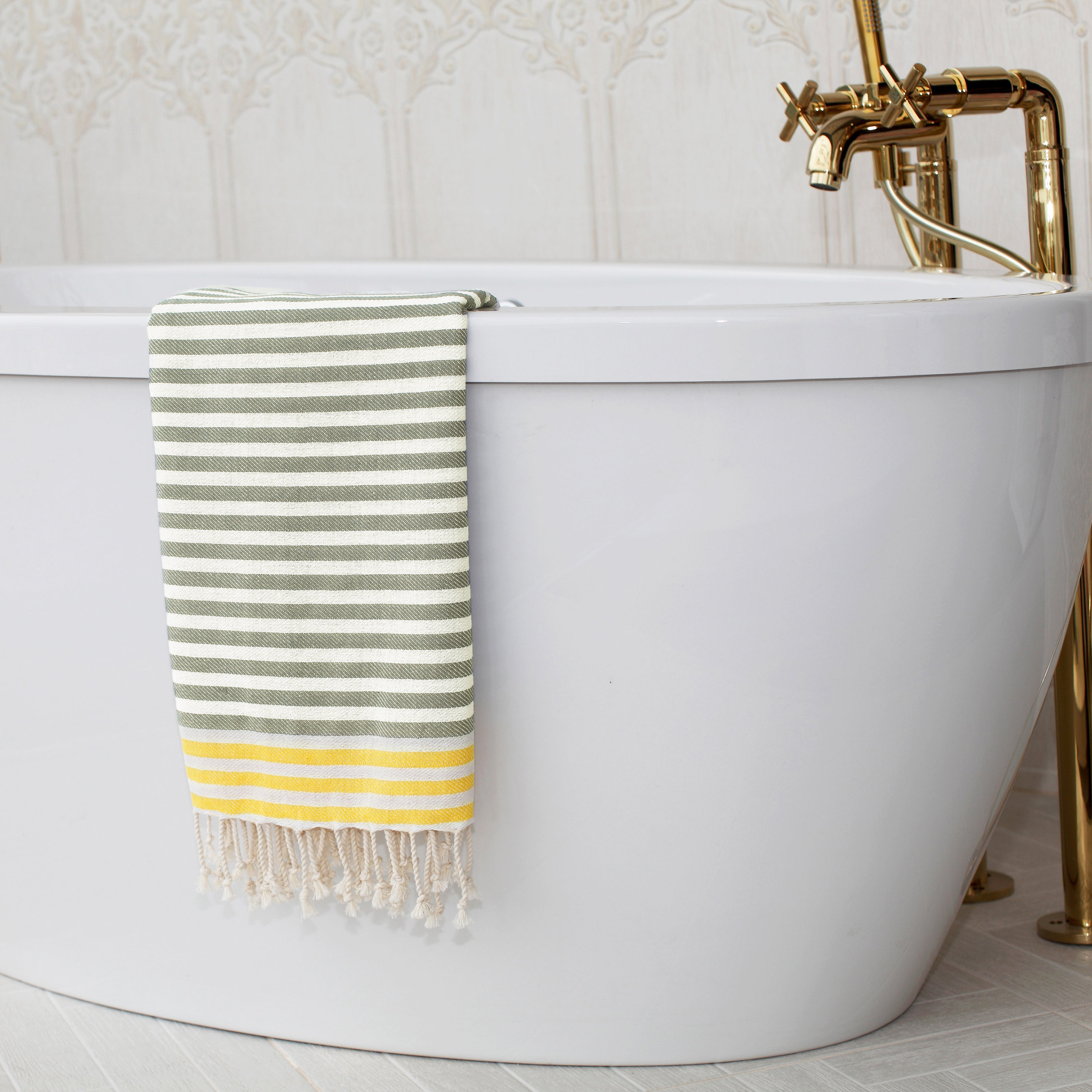 Shop Authentic Hotel and Spa Pestemal Fouta Stripe Monogrammed ...