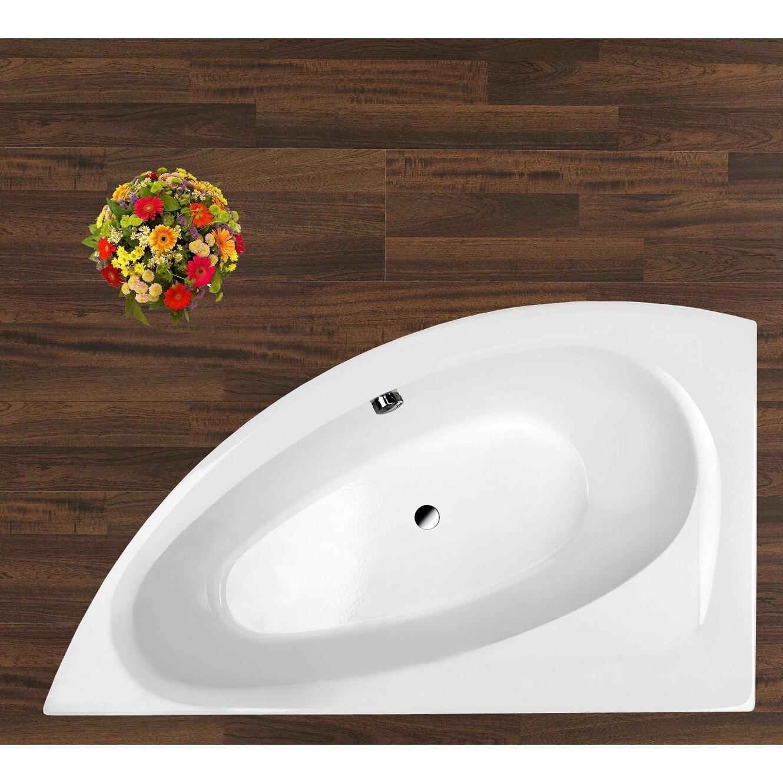 Shop Aquatica Idea Right White Corner Acrylic Bathtub - Free ...