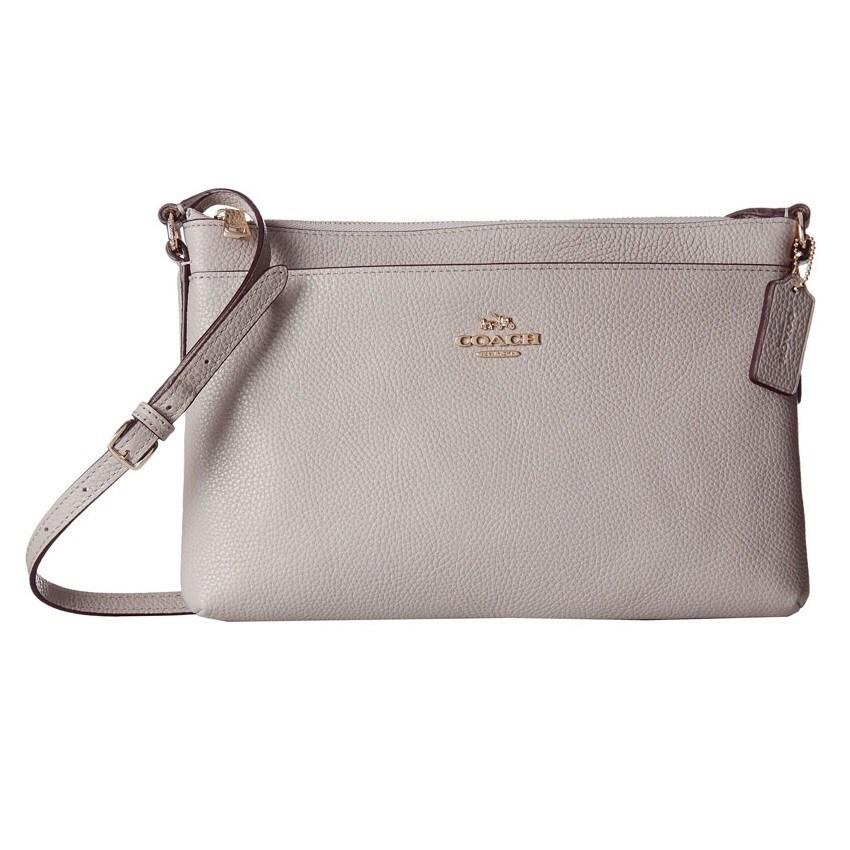coach pebble leather journal crossbody bag rh overstock com