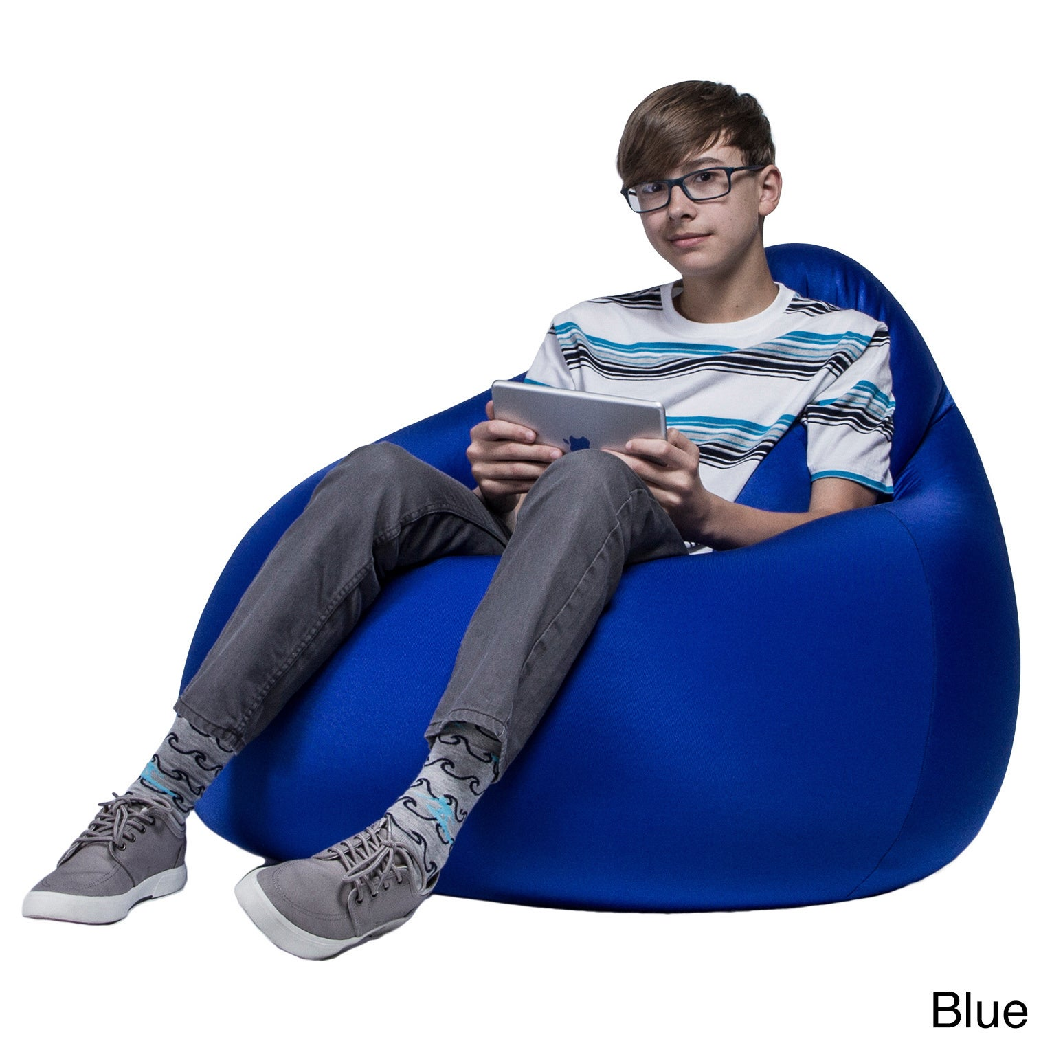 Shop Jaxx Nimbus Spandex Bean Bag Chair - Free Shipping Today - Overstock.com - 10230011  sc 1 st  Overstock.com & Shop Jaxx Nimbus Spandex Bean Bag Chair - Free Shipping Today ...