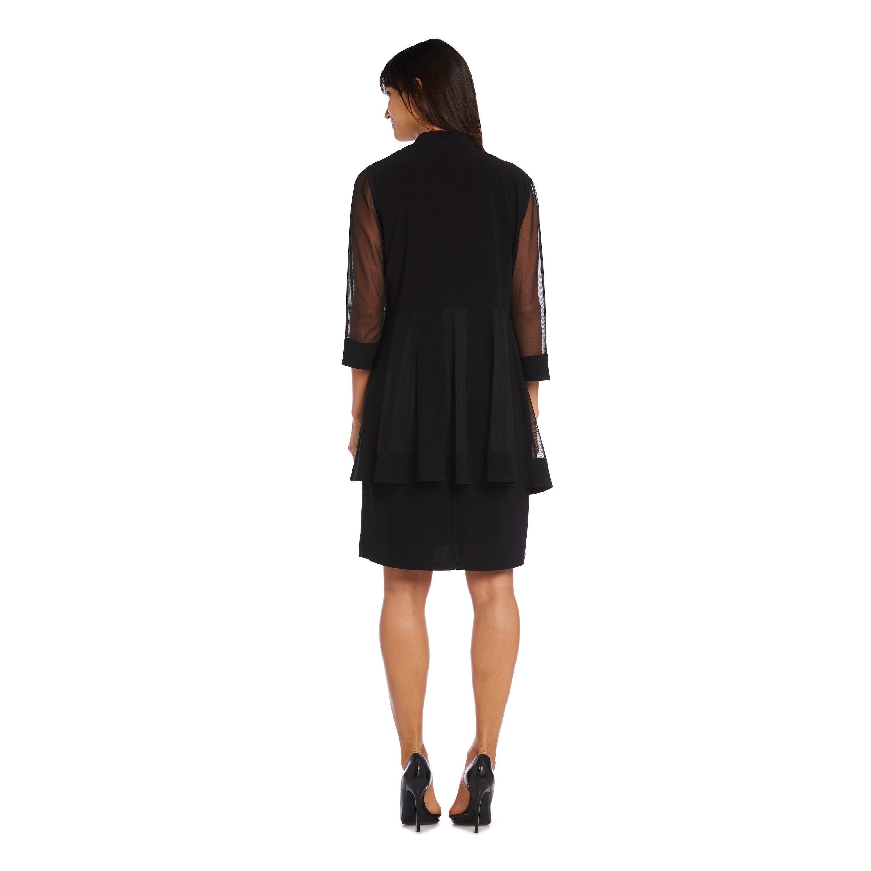 5ac6bd98887 Shop R   M Richards Sheer Jacket Dress - On Sale - Free Shipping Today -  Overstock - 10230052