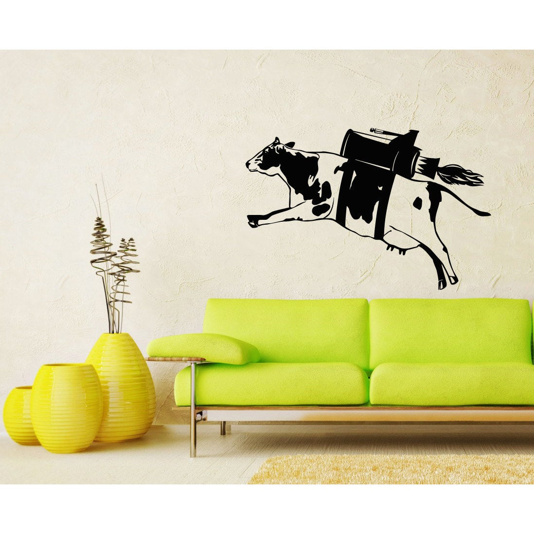 Shop Flying Cow Vinyl Sticker Wall Art - Free Shipping On Orders ...