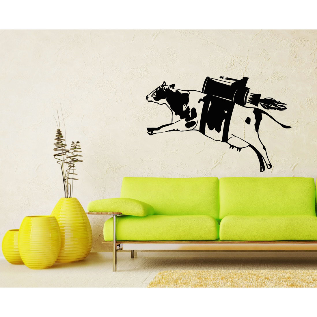 Shop Flying Cow Vinyl Sticker Wall Art - Free Shipping Today ...