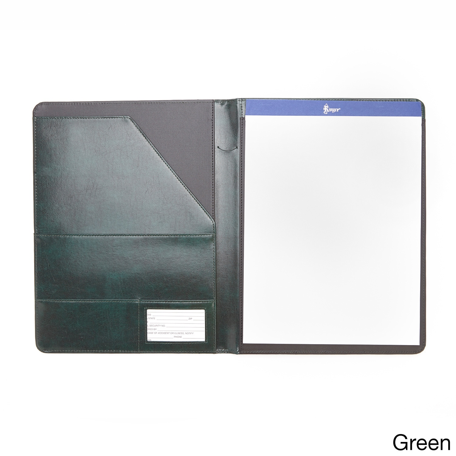 Shop Royce Leather Aristo Genuine Leather Padfolio Free Shipping