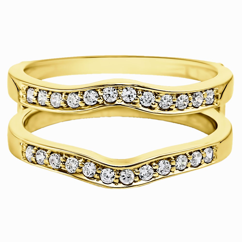 white way in band platinum wb set channel melee three quarter diamond gold pave