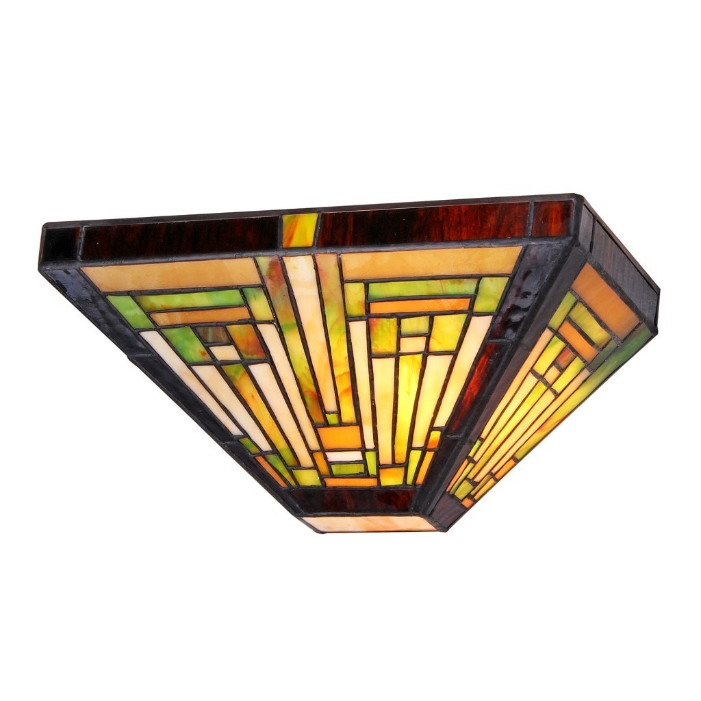 Shop Chloe Tiffany Style Mission Design 1 Light Wall Sconce Free