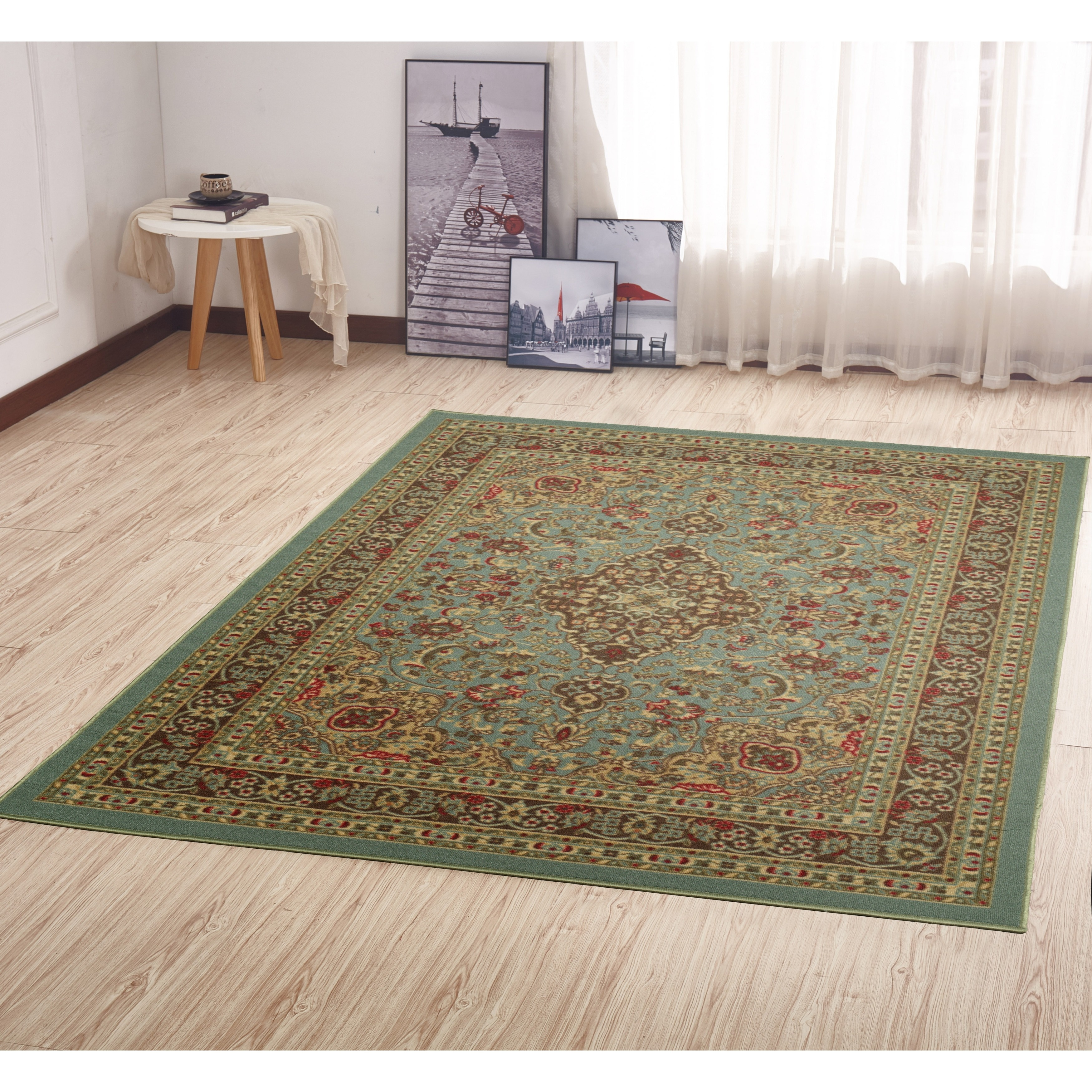 Ottomanson Ottohome Collection Persian Heriz Oriental Design Non Skid Slip Rubber Backing Area Rug On Free Shipping Orders Over 45