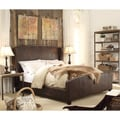 Moser Bay Furniture Chavelle Beige Upholstery Queen Bed with High-profile Footboard
