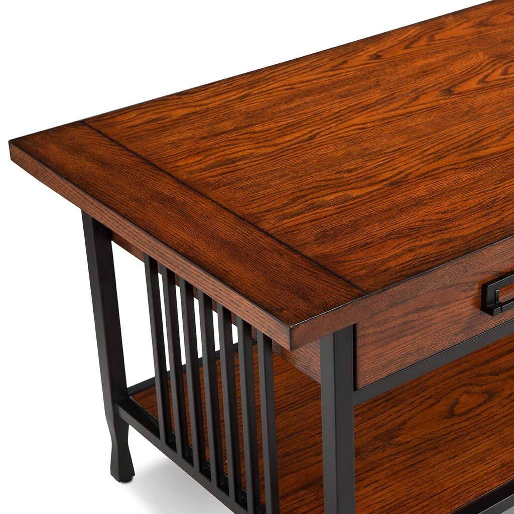 Pine Canopy Ixora Matte Black Slatted Coffee Table   Free Shipping Today    Overstock   17356240