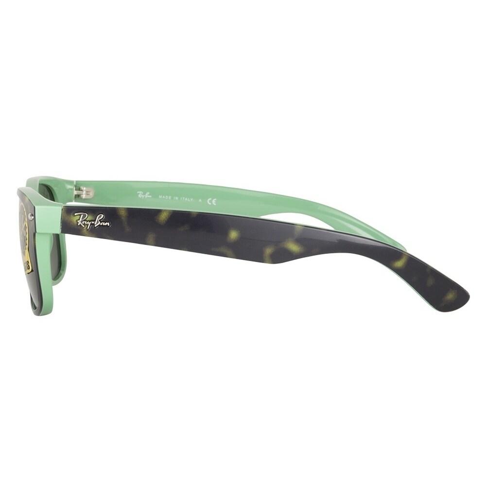 c81cba1d8 Shop Ray-Ban RB 2132 6013 Wayfarer Dark Havana Green Grey Sunglasses Size  55 - Free Shipping Today - Overstock - 10237032