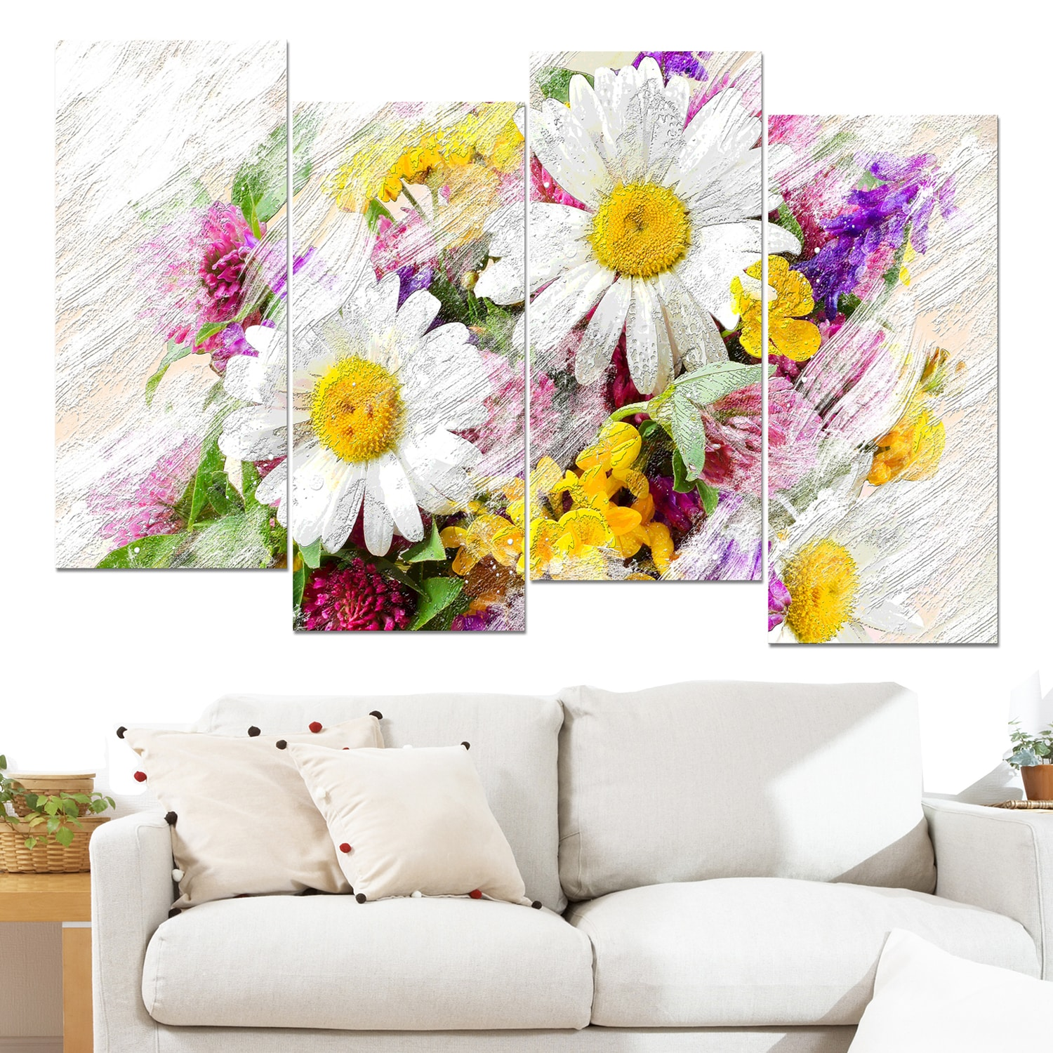 Shop design art wild flowers bouquet canvas art print free shop design art wild flowers bouquet canvas art print free shipping today overstock 10238361 izmirmasajfo
