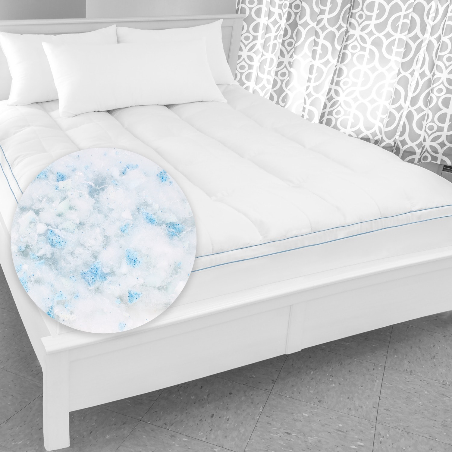 Shop Swisslux Supreme Memory Foam And Fiber Bed Topper With Skirt